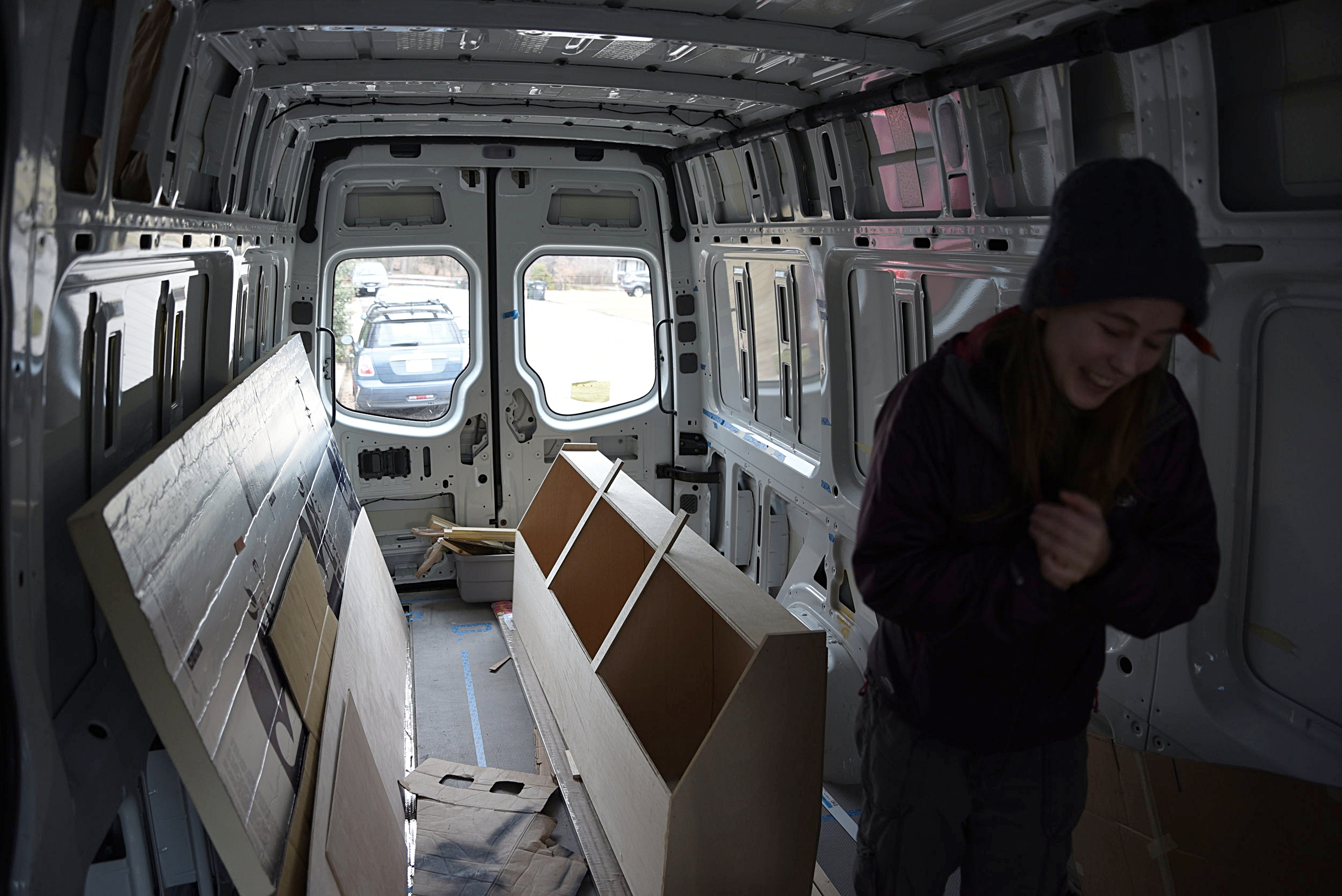 A bit of humor is required when building a van home.