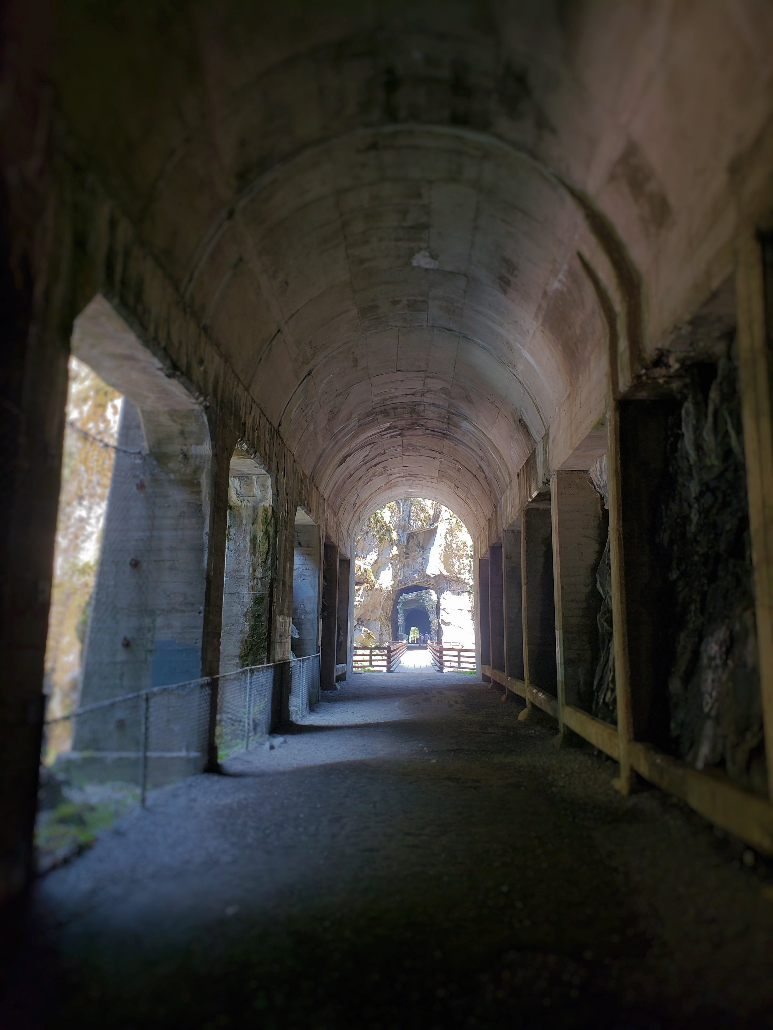 One of the tunnels has these cement pillars that give it a cathedral-esque feel.