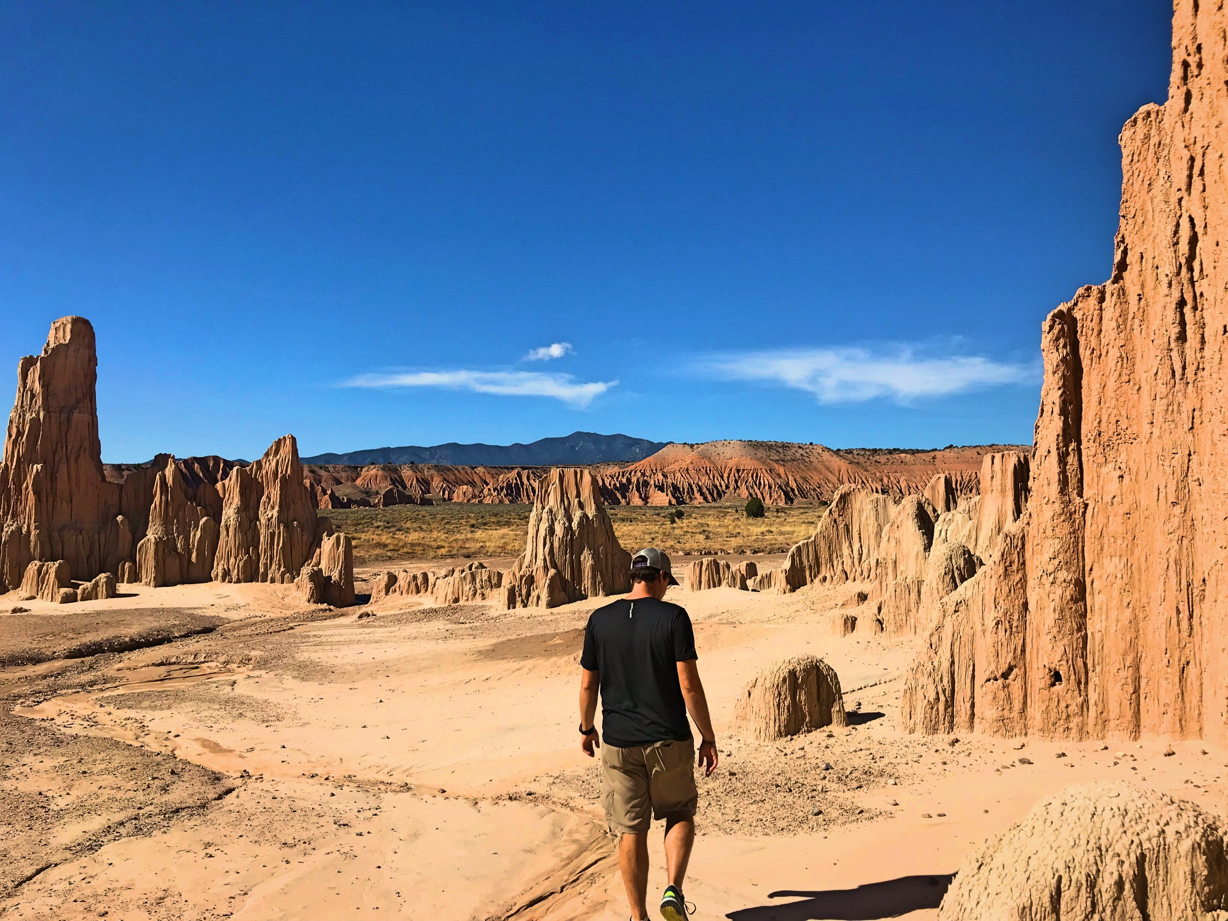 Ian walking around outside the Cathedral Caves.