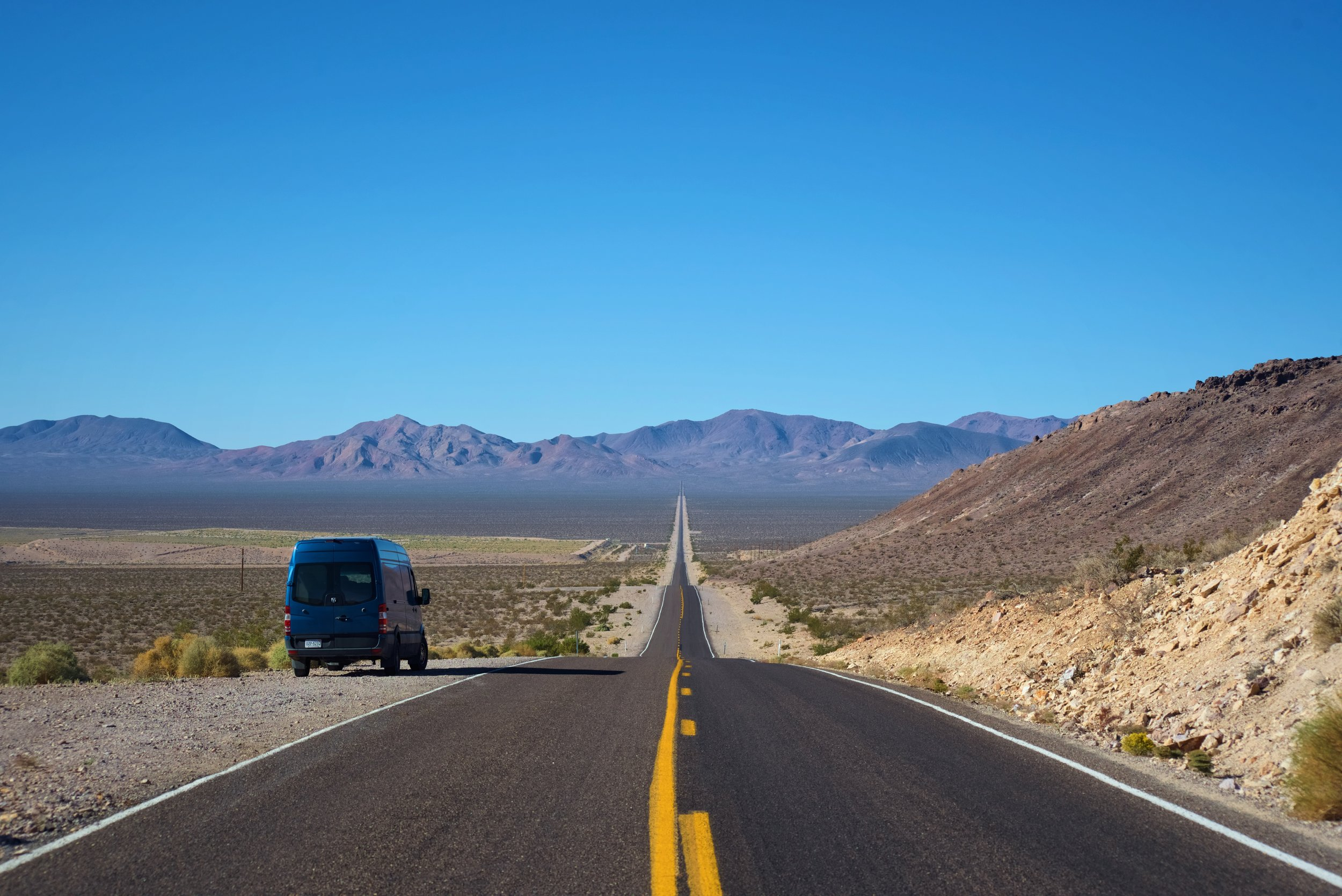 The road we took leading to Death Valley. Nevada has many lonely roads like this.