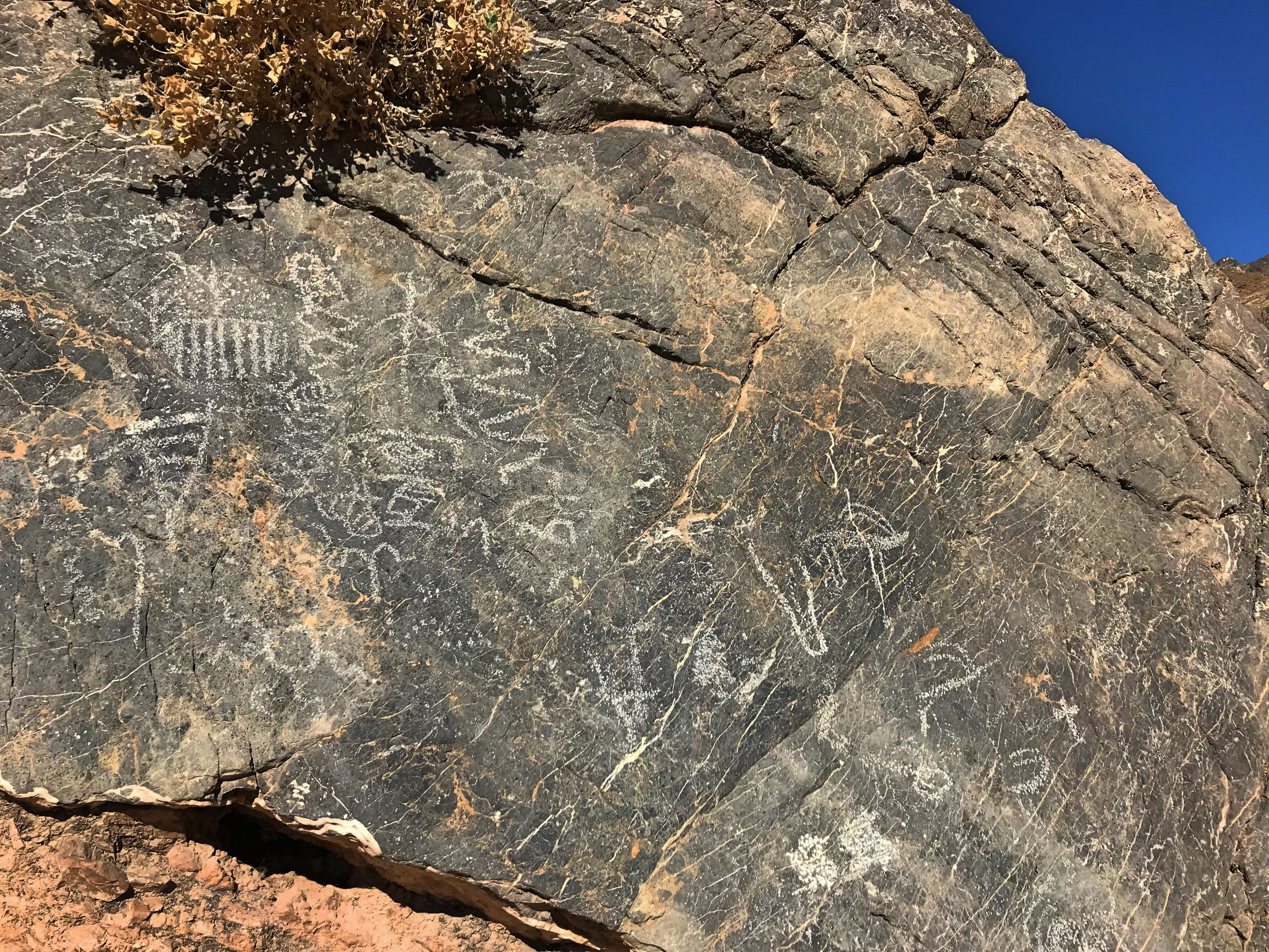 The ancient petroglyphs at Klare Spring.