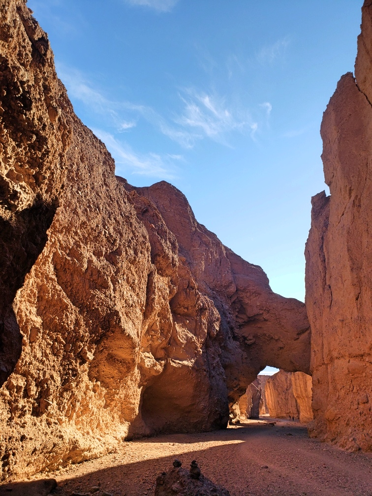 The Natural Bridge inside the canyon.