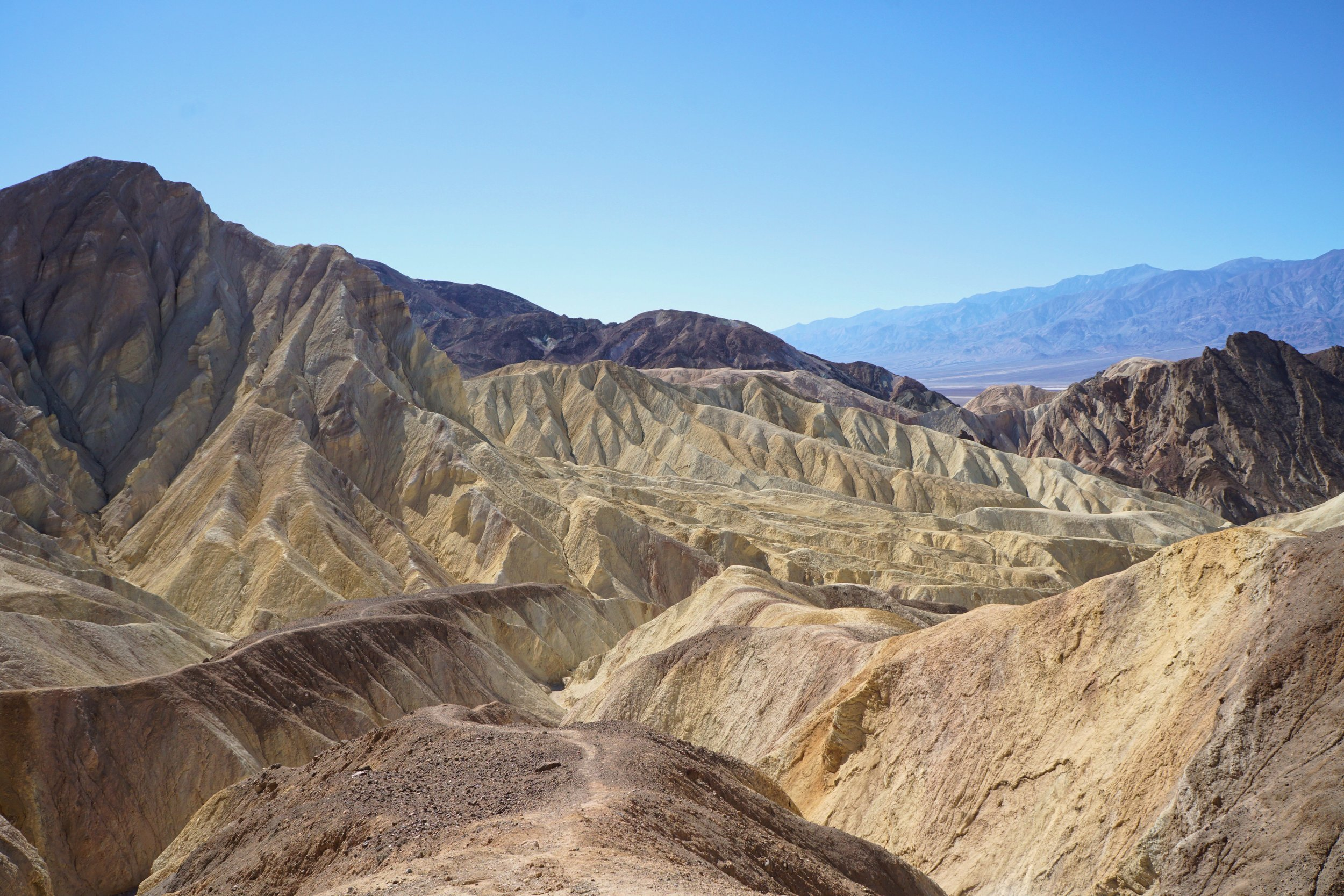 The Golden Canyon Trail has a similar look to Zabriskie point in some places.