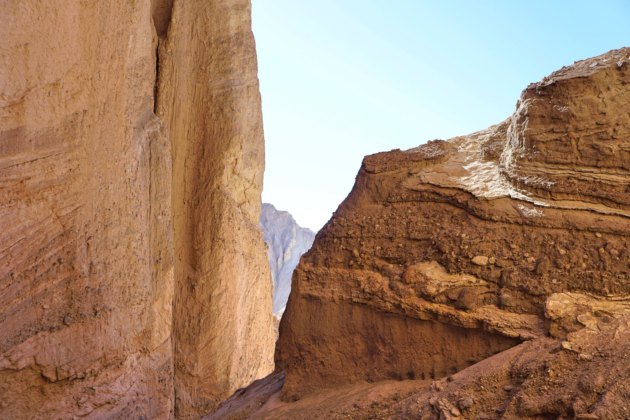 Red Cathedral has massive curved walls that face back toward Death Valley.