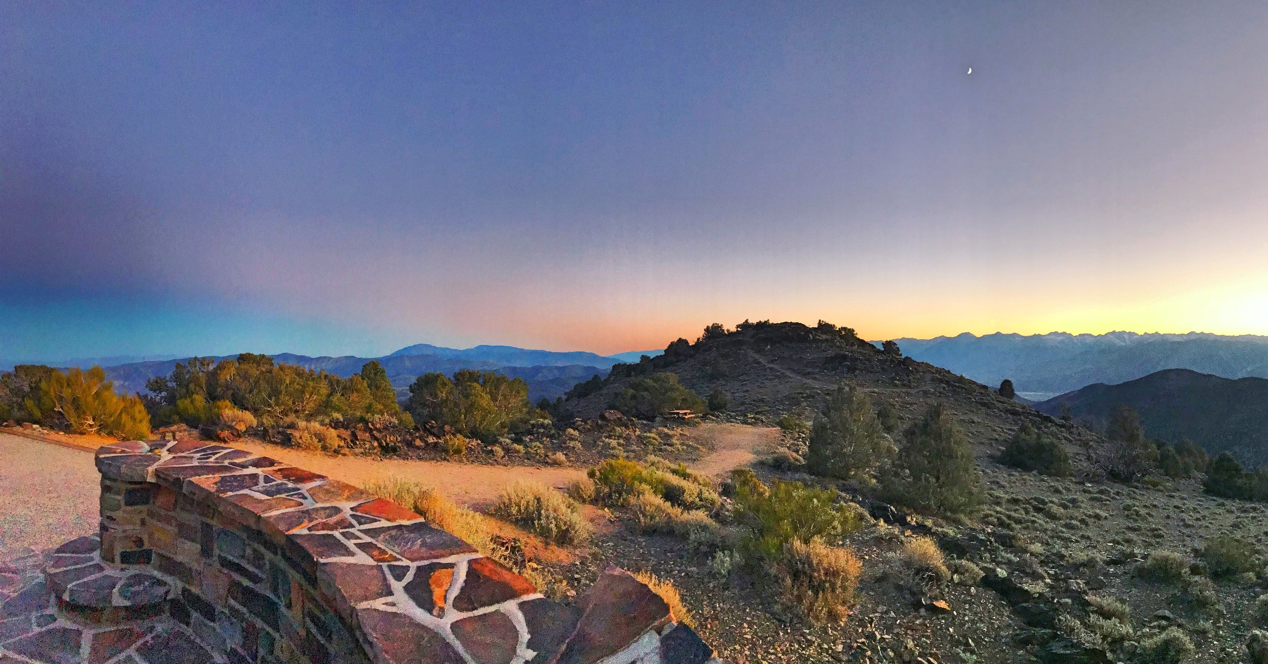 We caught the sunset at  this overlook  while coming down from the Ancient Bristlecone Pine Forest.