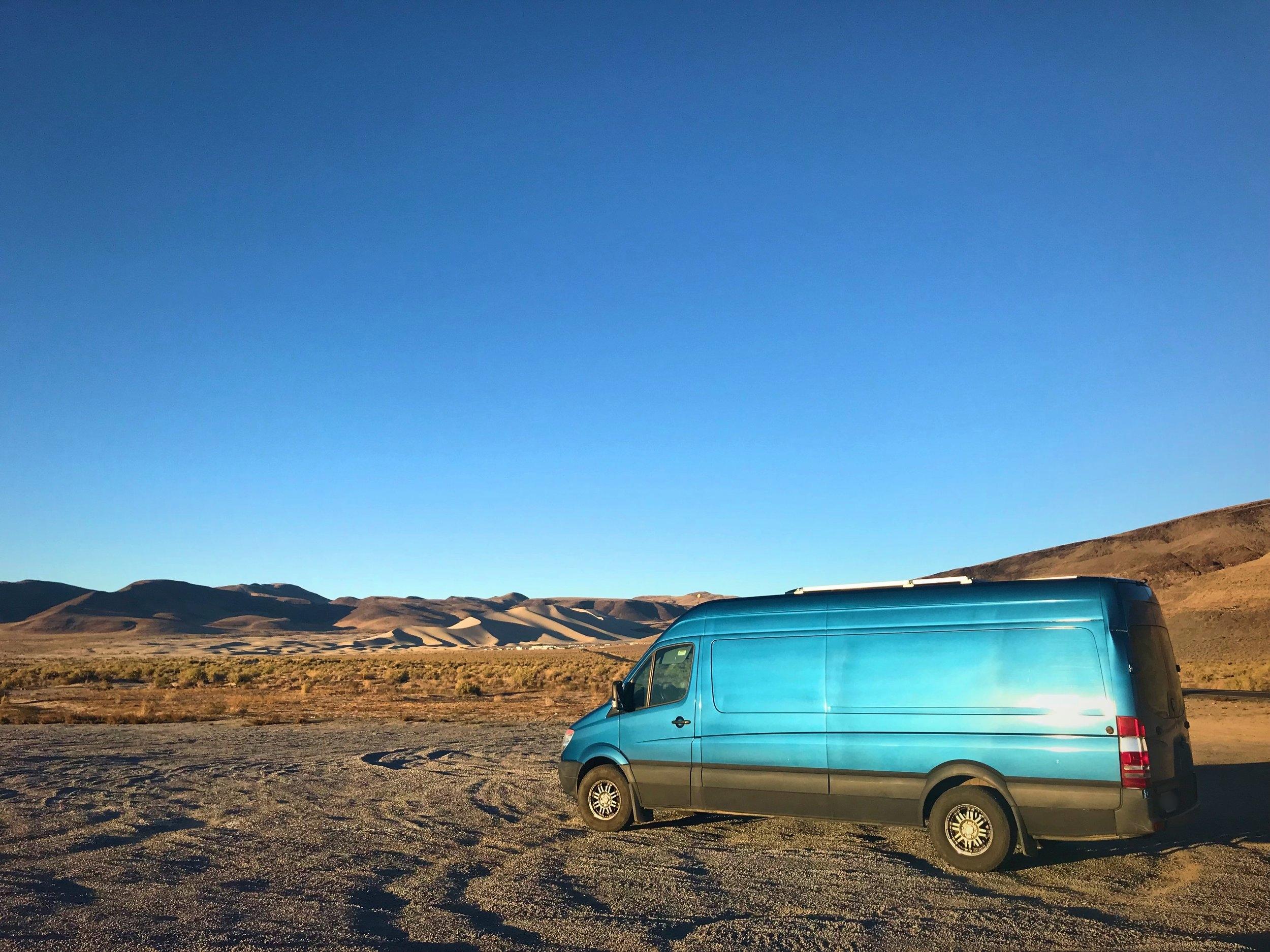 Vanlife in Falon Nevada Sand Mountain OHV Area