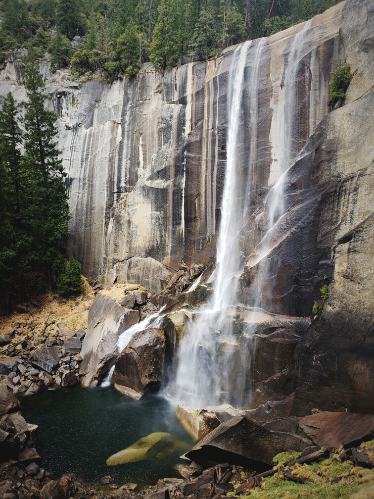 Vernal Falls, still beautiful when the water is low.