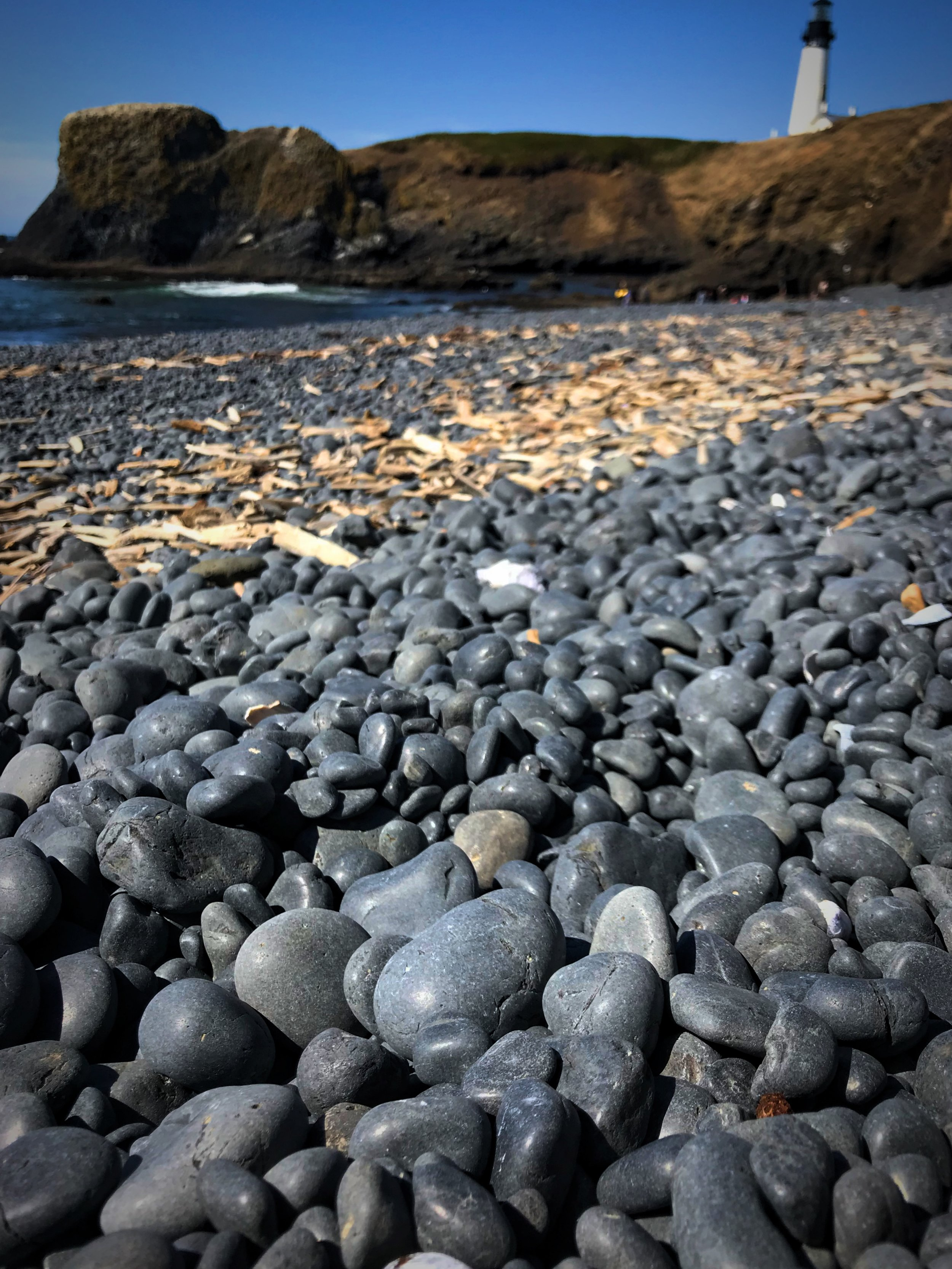 Don't take rocks with you. If a thousand visitor each took only one rock, the beach would disappear in a matter of years.