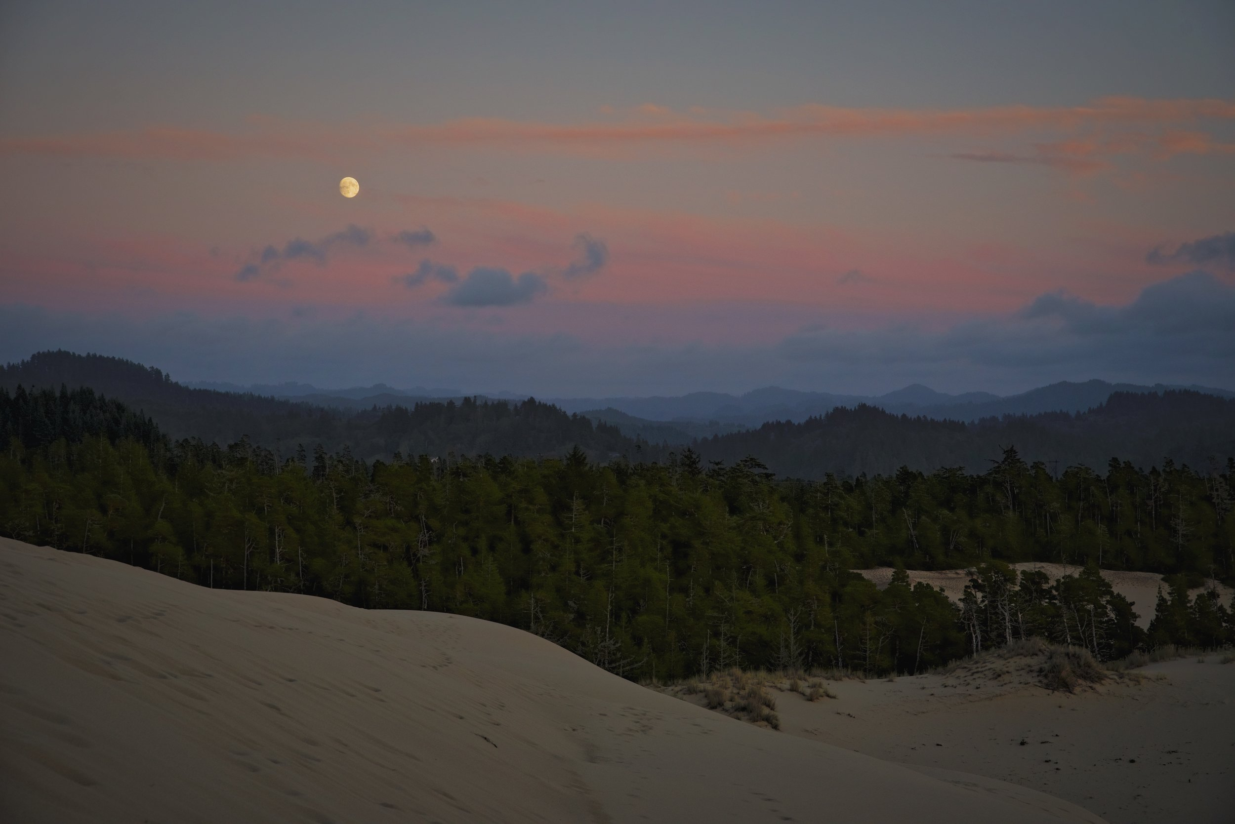 Not only did we get to see the sunset, we got to see the moon rise.