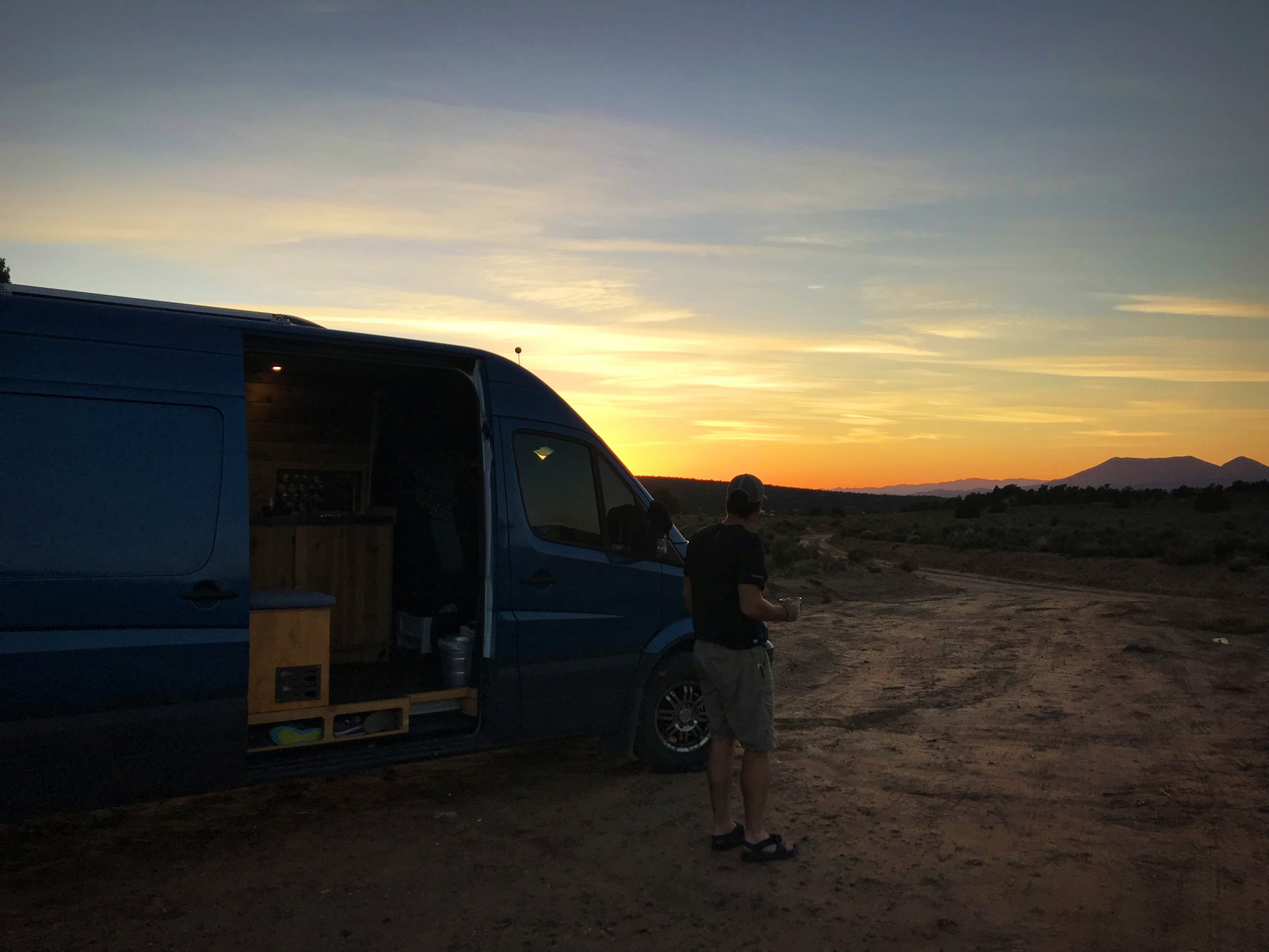 Our first free camping spot outside St. George, Utah on Dameron Valley Road.
