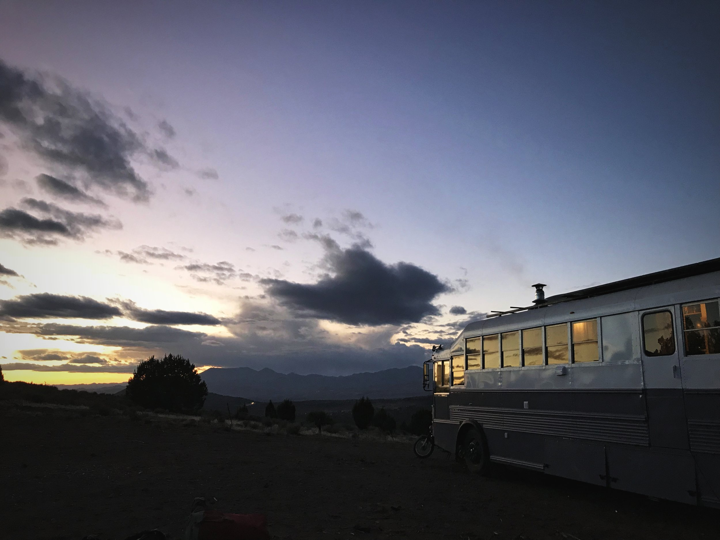 We spent a lovely Thanksgiving with a family who live in a bus.