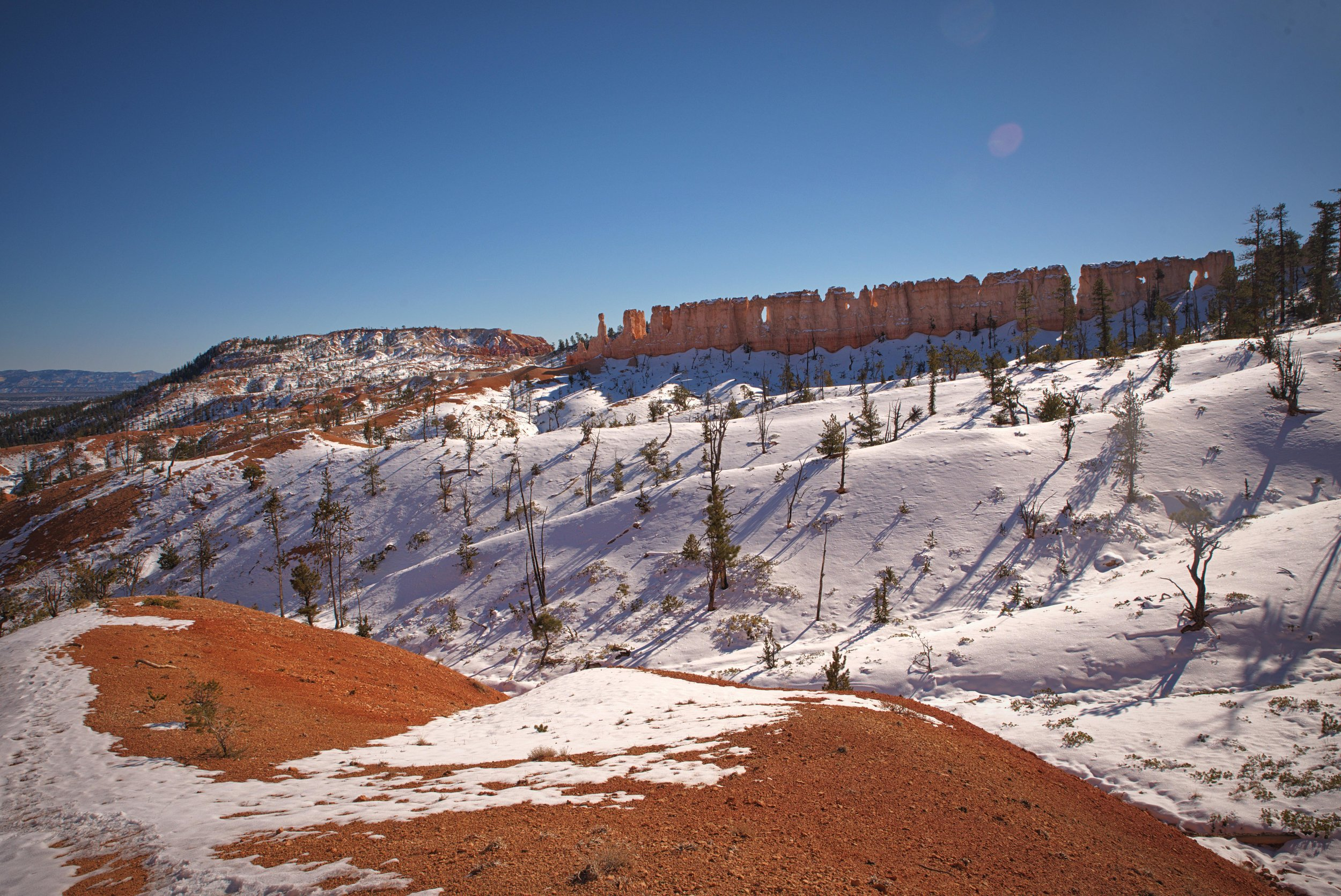 The Chinese Wall formation from the Fairyland Loop Trail.