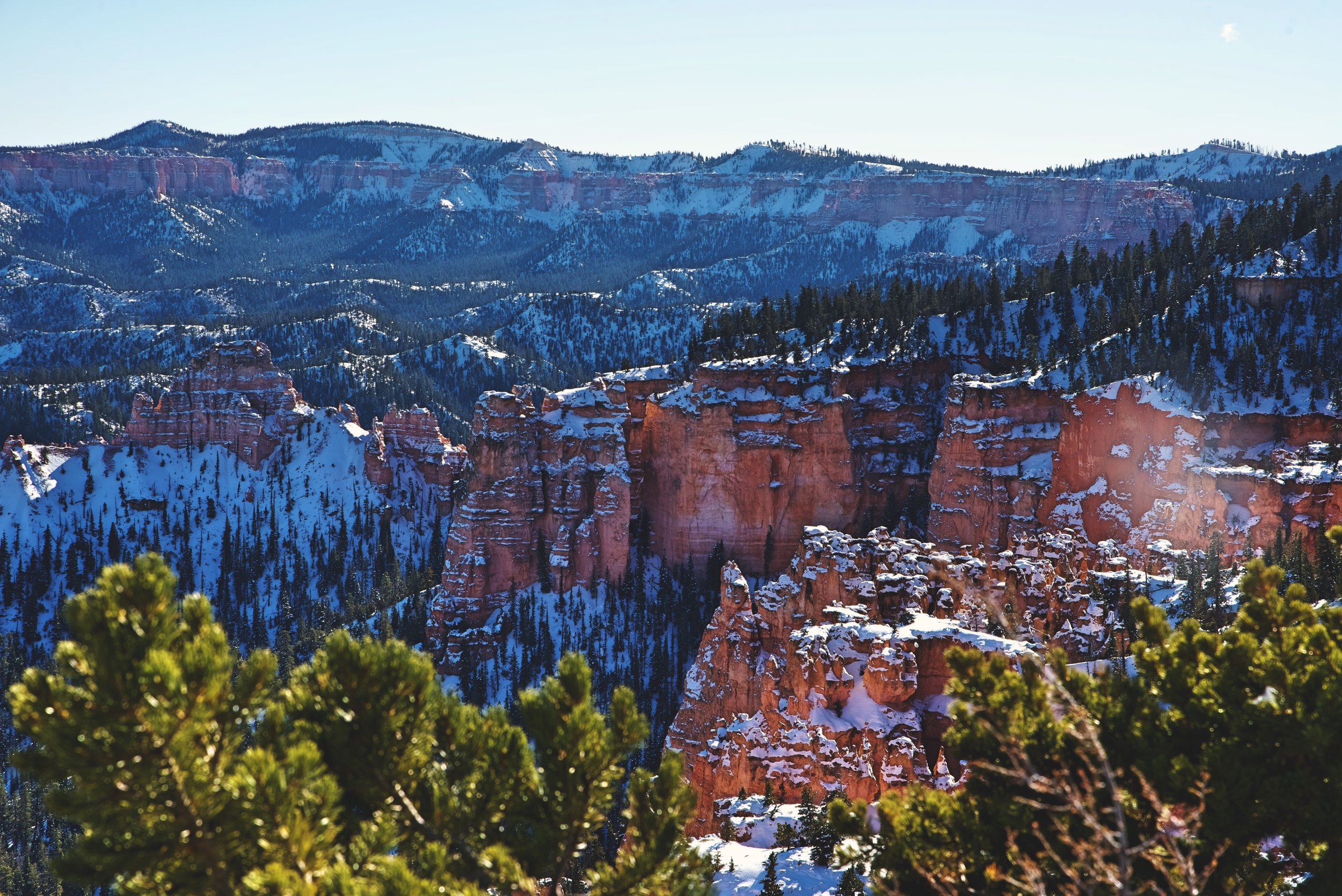The Pink Cliffs of the Aquarius Plateau are what the hoodoos of Bryce Canyon are carved from.