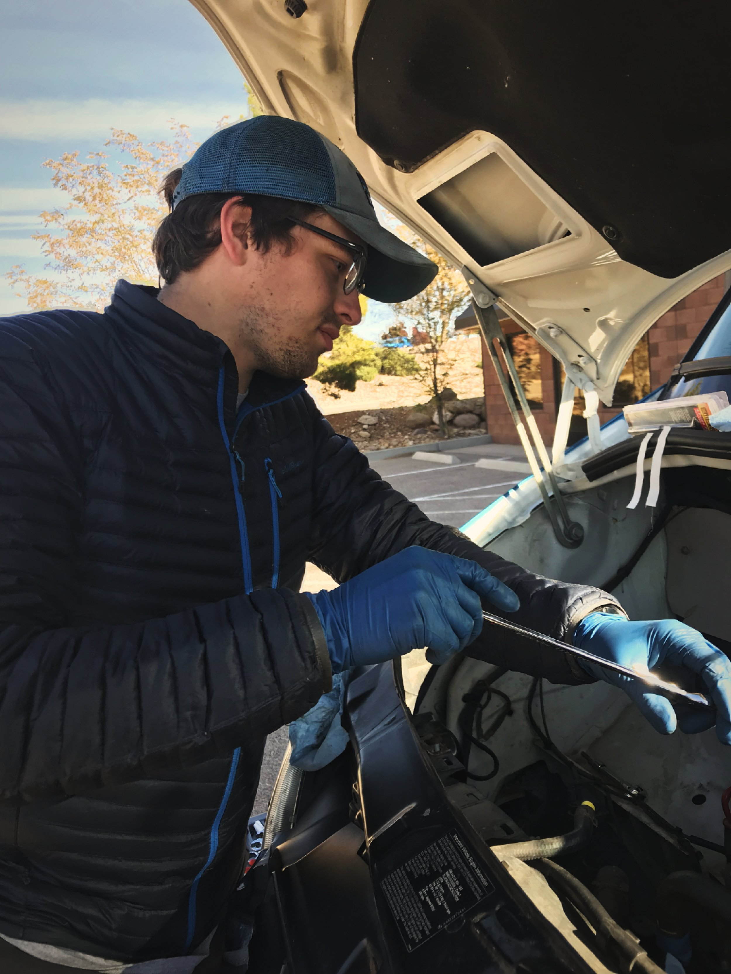 We found a place to do the repair by reaching out to Jeep groups in the St. George area.