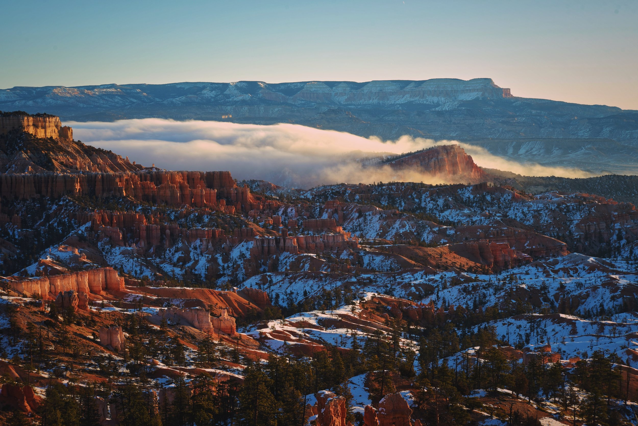 This mist started to surround the Sinking Ship formation across the canyon from us.