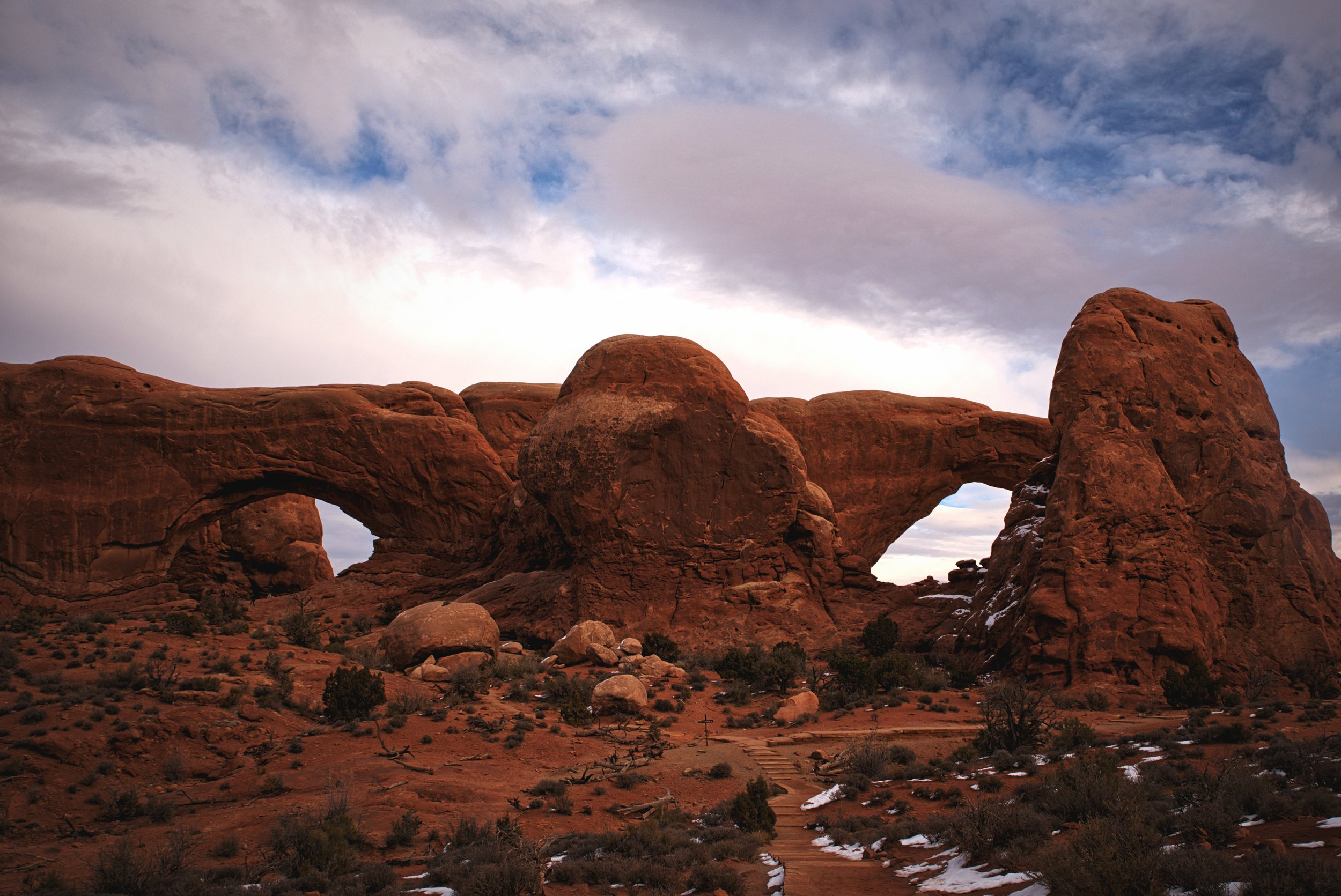 The North and South windows are sometimes called the Spectacles because of the giant nose in between them.