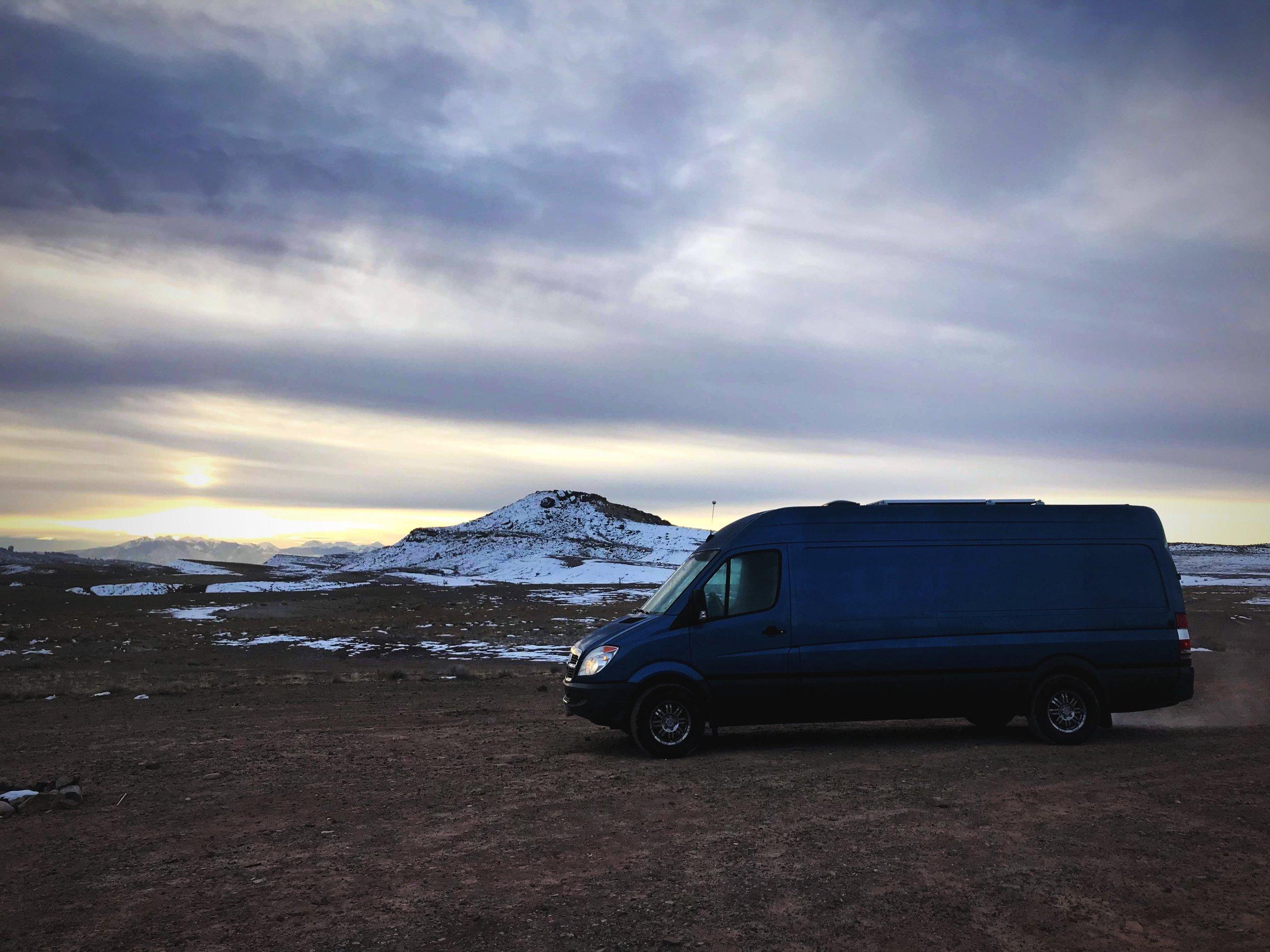 Free campsite at Klondike Trails—an open, quiet area.