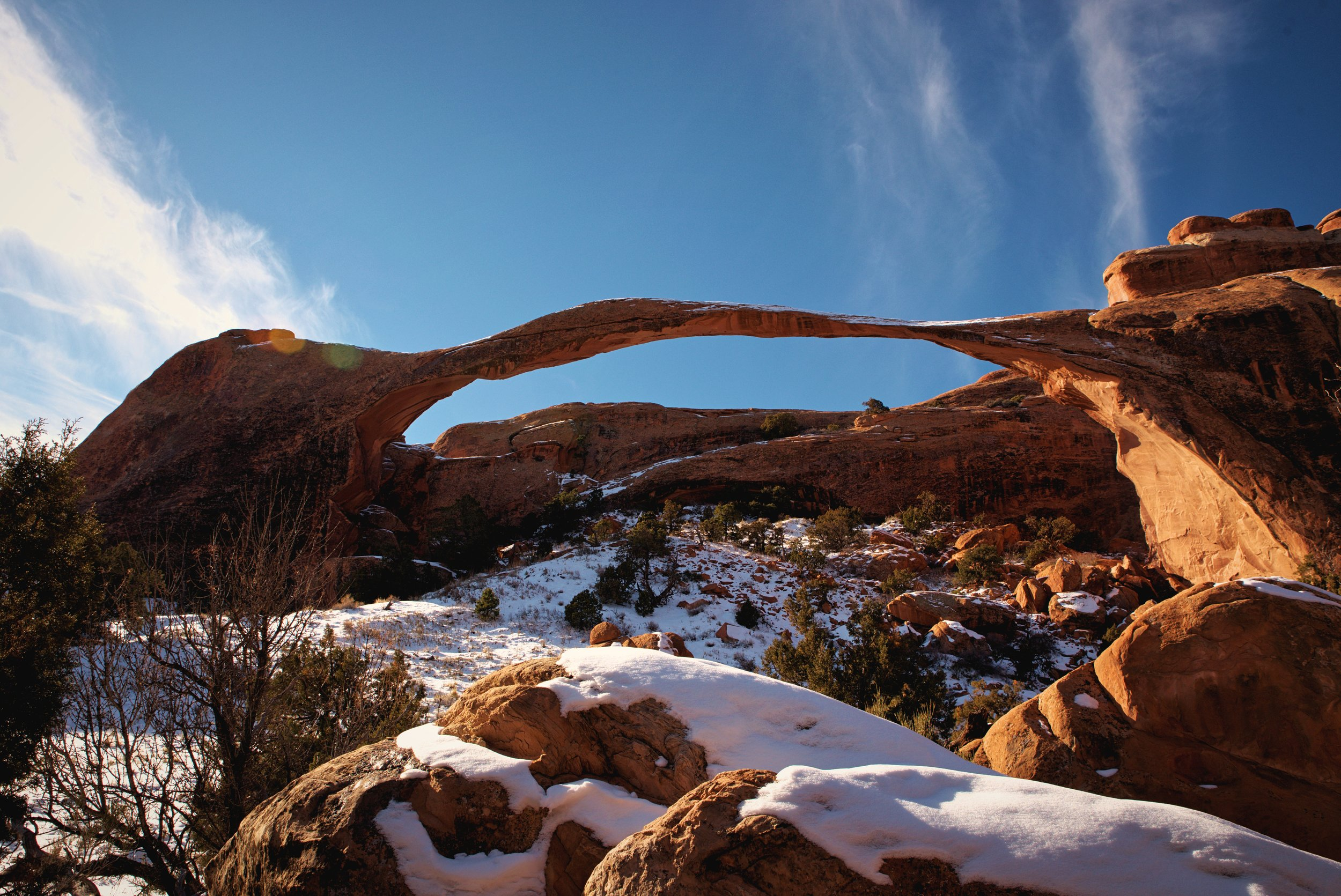 Landscape Arch is the longest arch in North America.