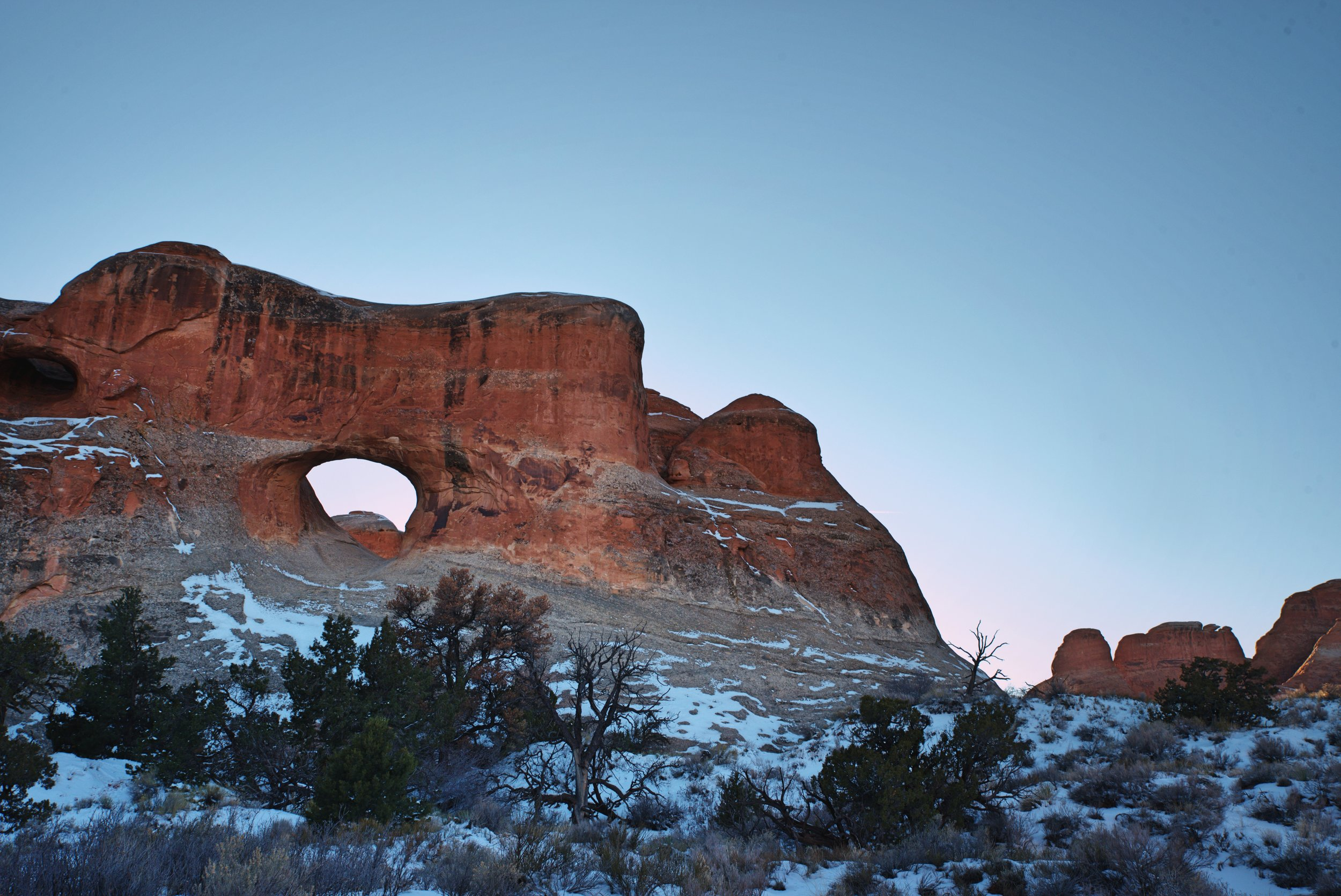 Tunnel Arch was given its name because early visitors to the park thought it looked like a highway tunnel.