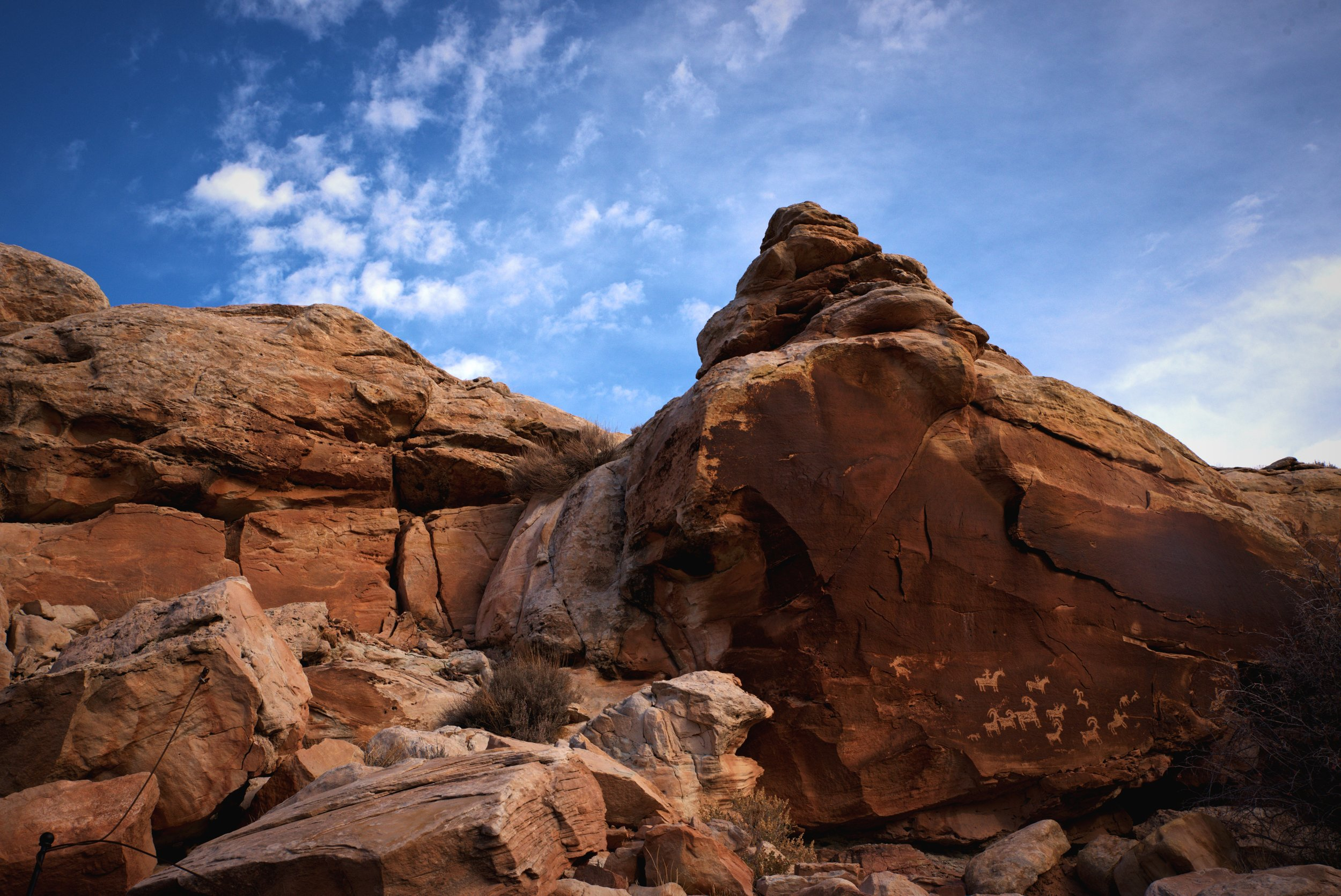 The Ute Rock Art along the Delicate Arch Trail is really beautiful.