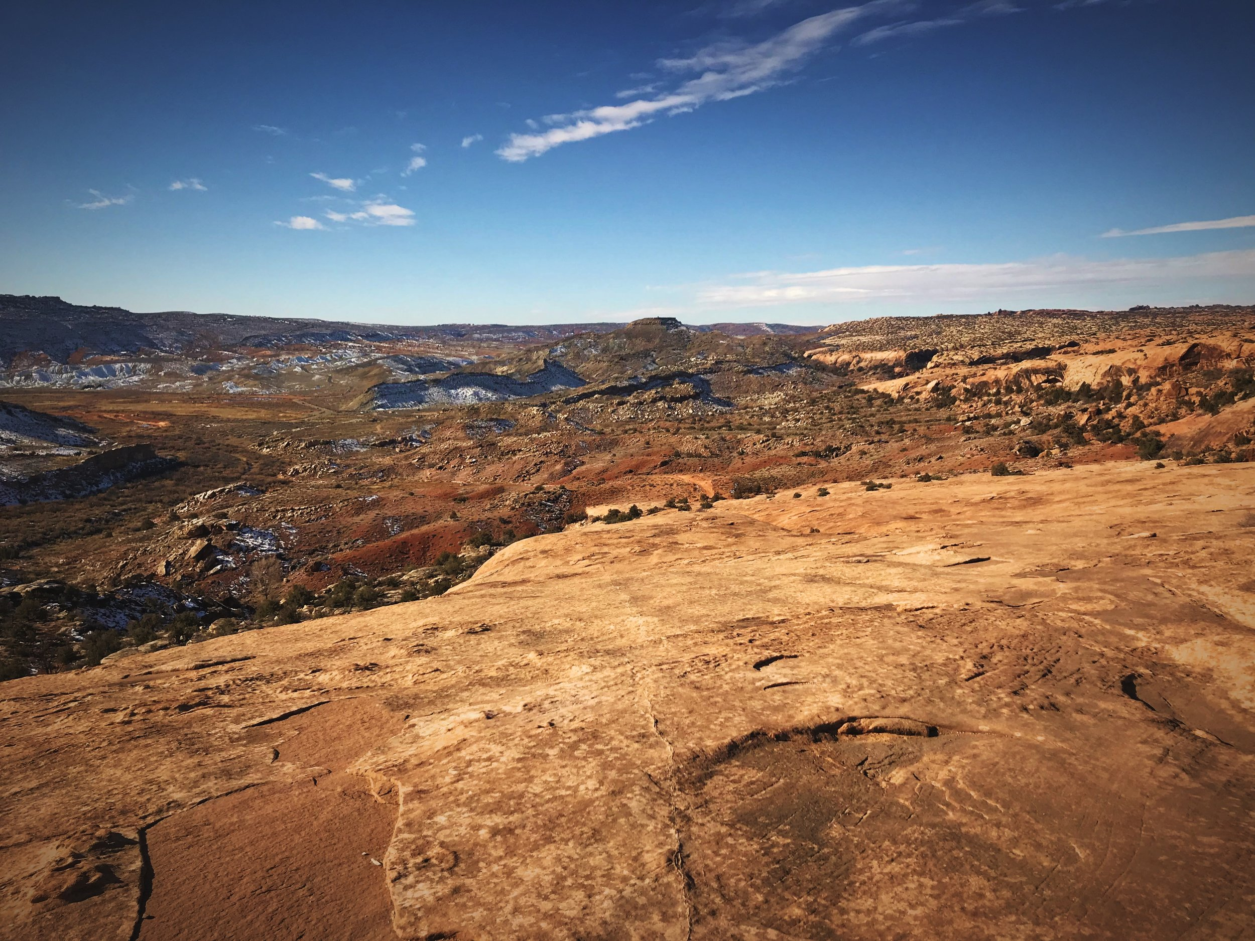 Don't forget to look around you while hiking to Delicate Arch. You will be treated to gorgeous views.