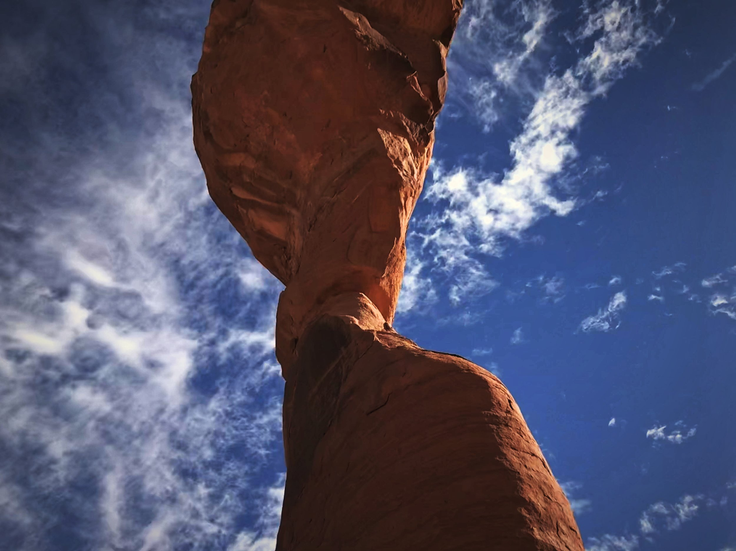 When you stand below Delicate Arch make sure too look up st the absurd rock above your head.
