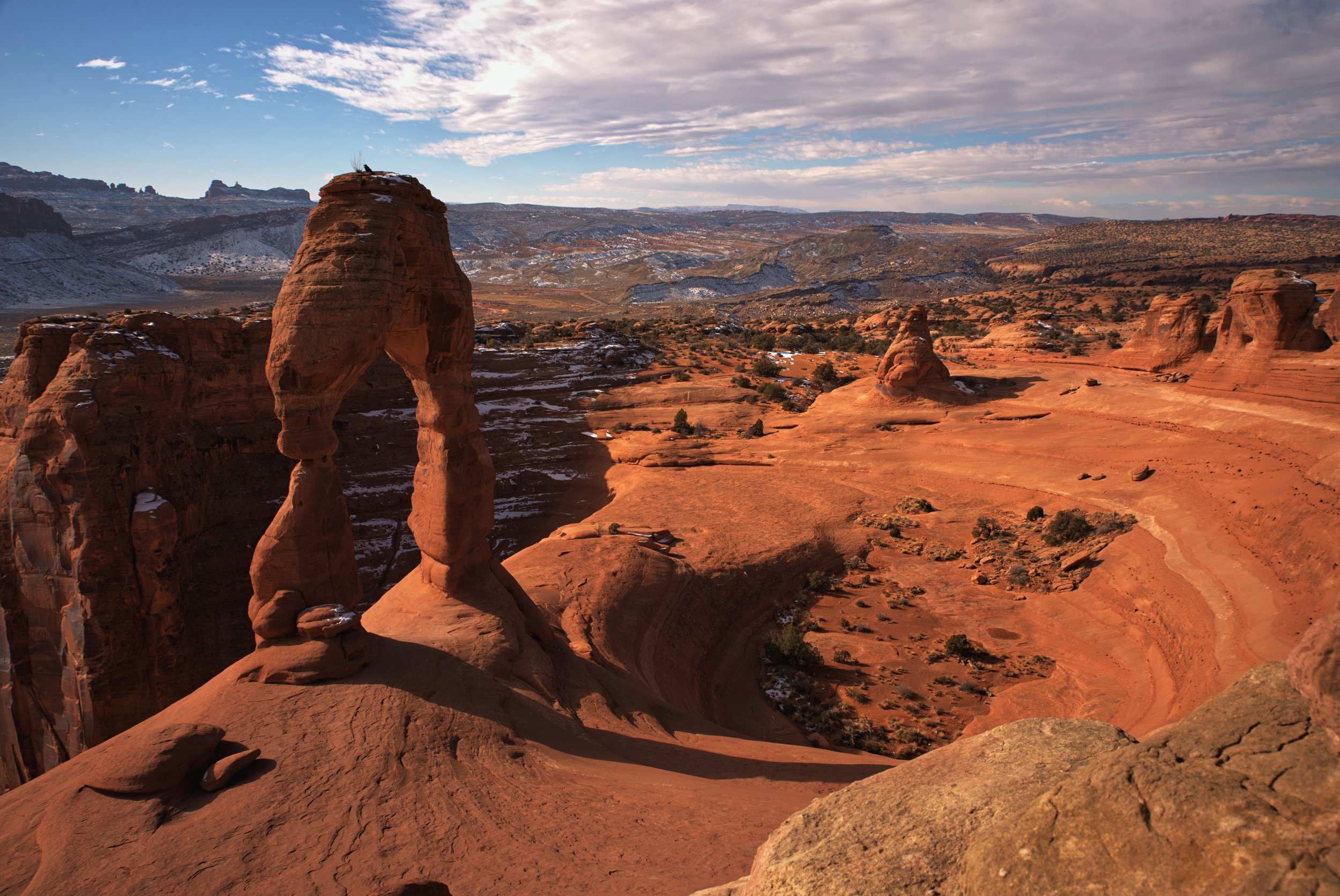 The sandstone bowl that Delicate Arch stands atop is impressive even without the Arch.