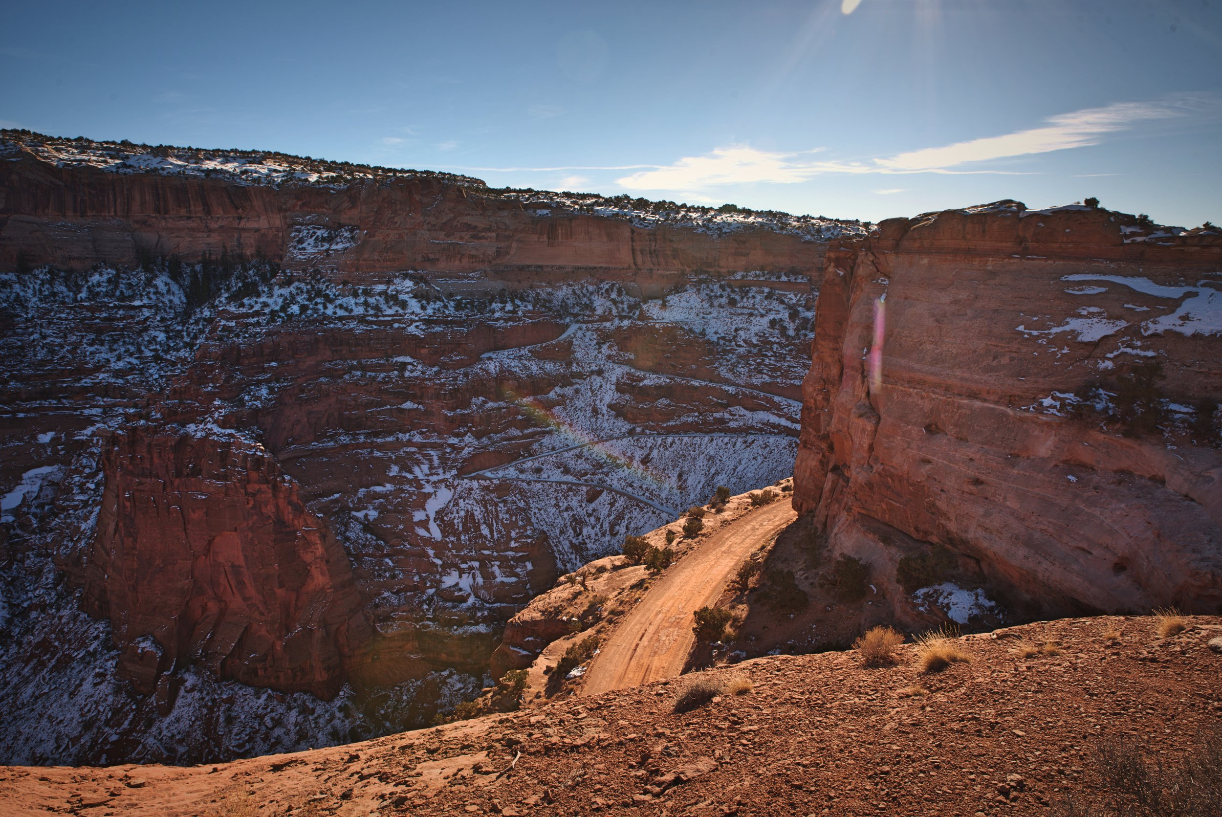 The Shafer Trail follows narrow ledges, and I can only imagine that it would be a pretty intense drive!