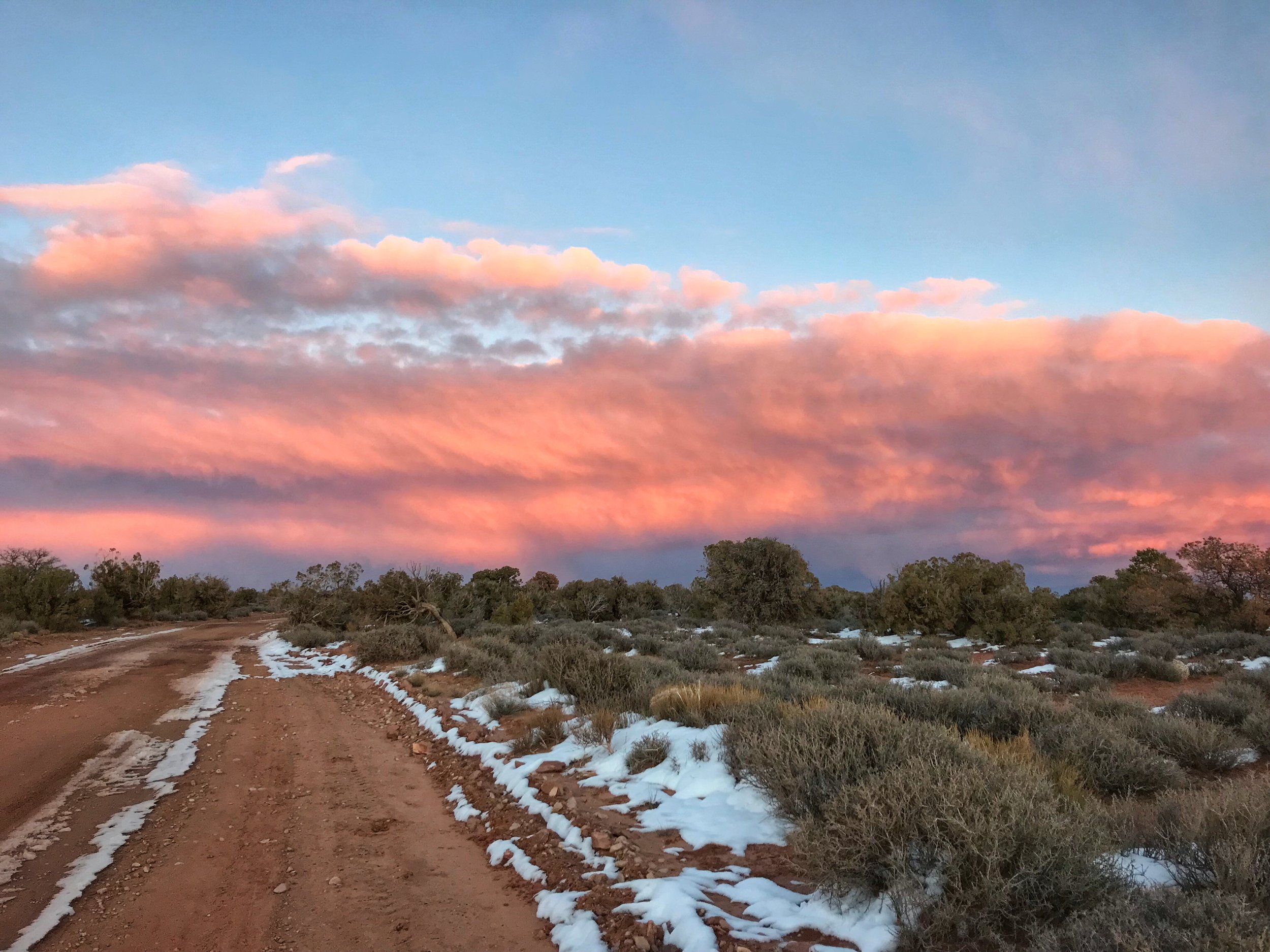 We saw the most incredible sunset from Horsethief Trail right outside Canyonlands.