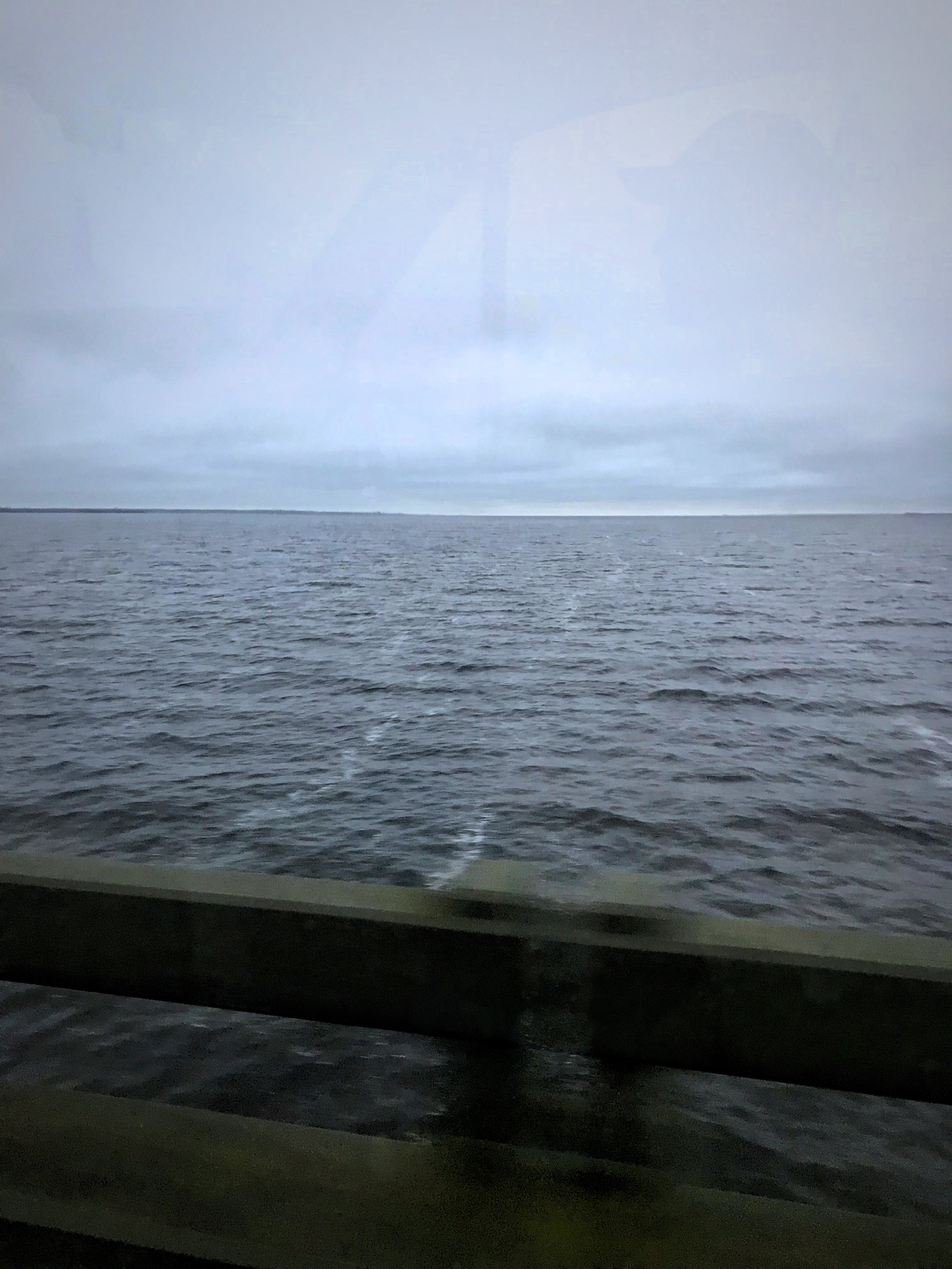The drive along Highway 12 in the Outer Banks is amazing because you are often driving on such a narrow strip of land that there is water just outside both doors.