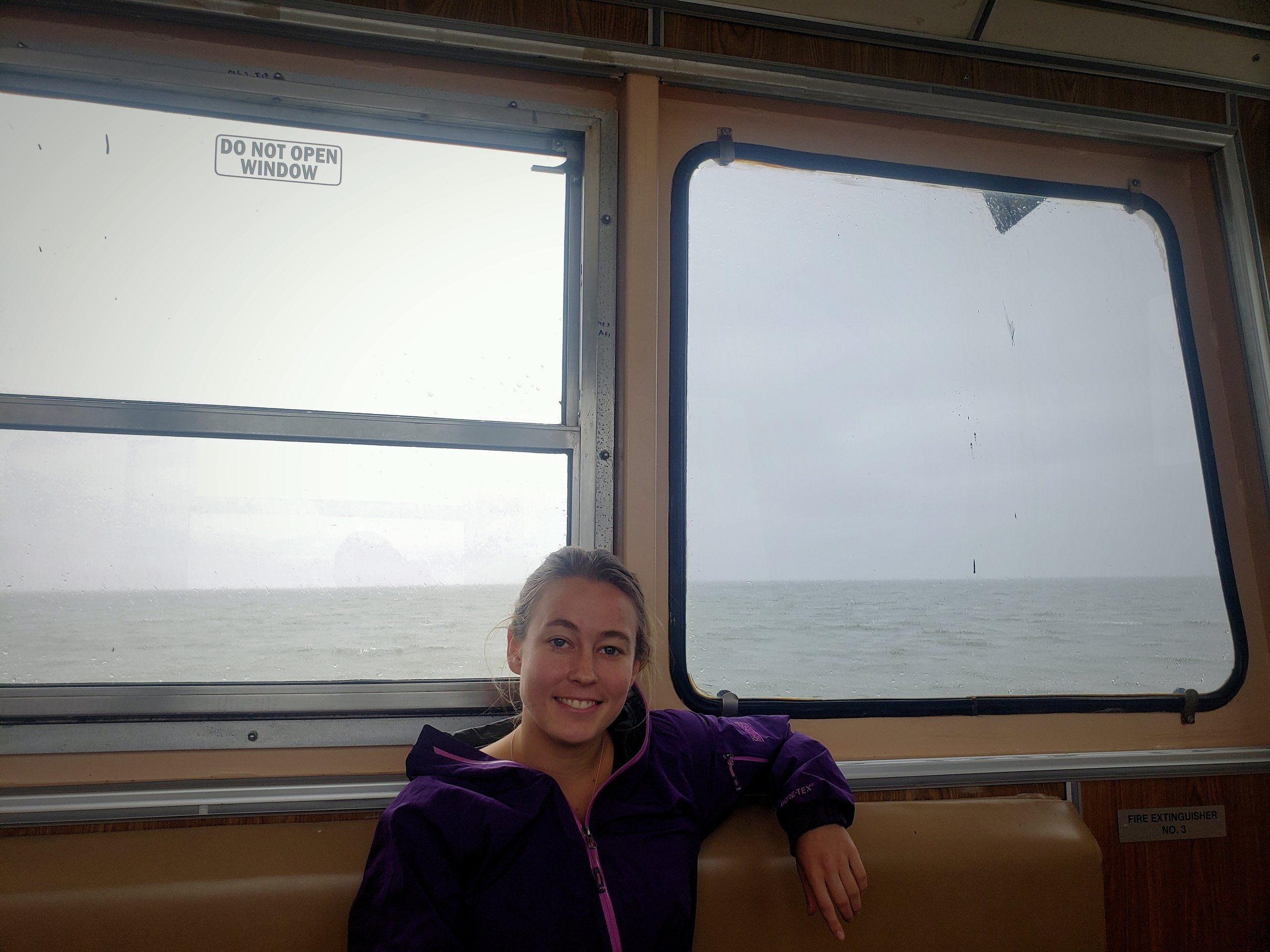 Riding the totally free Ocracoke Ferry is a fun activity for winter in the Outer Banks.