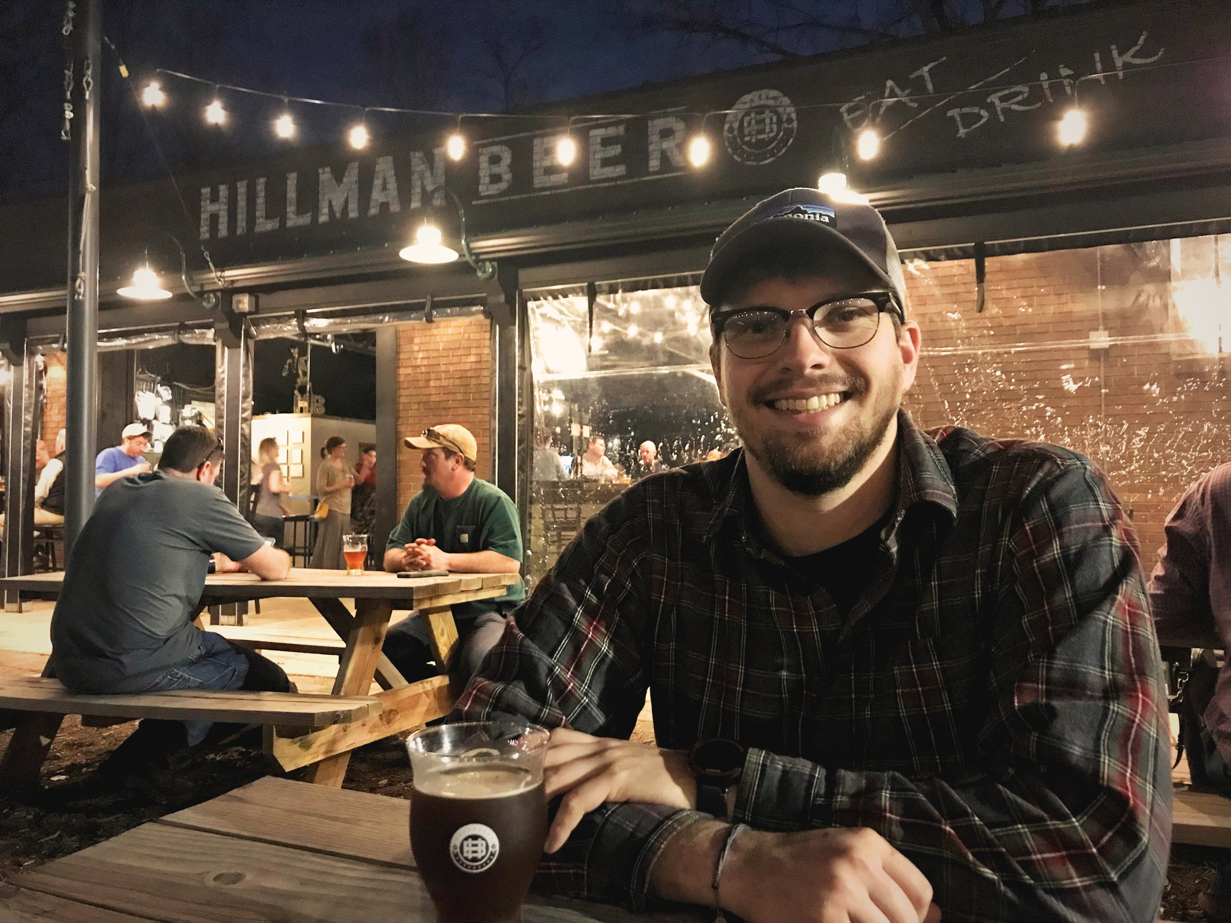 We'd definitely recommend Hillman Beer, especially if it's warm enough to enjoy their outdoor seating.