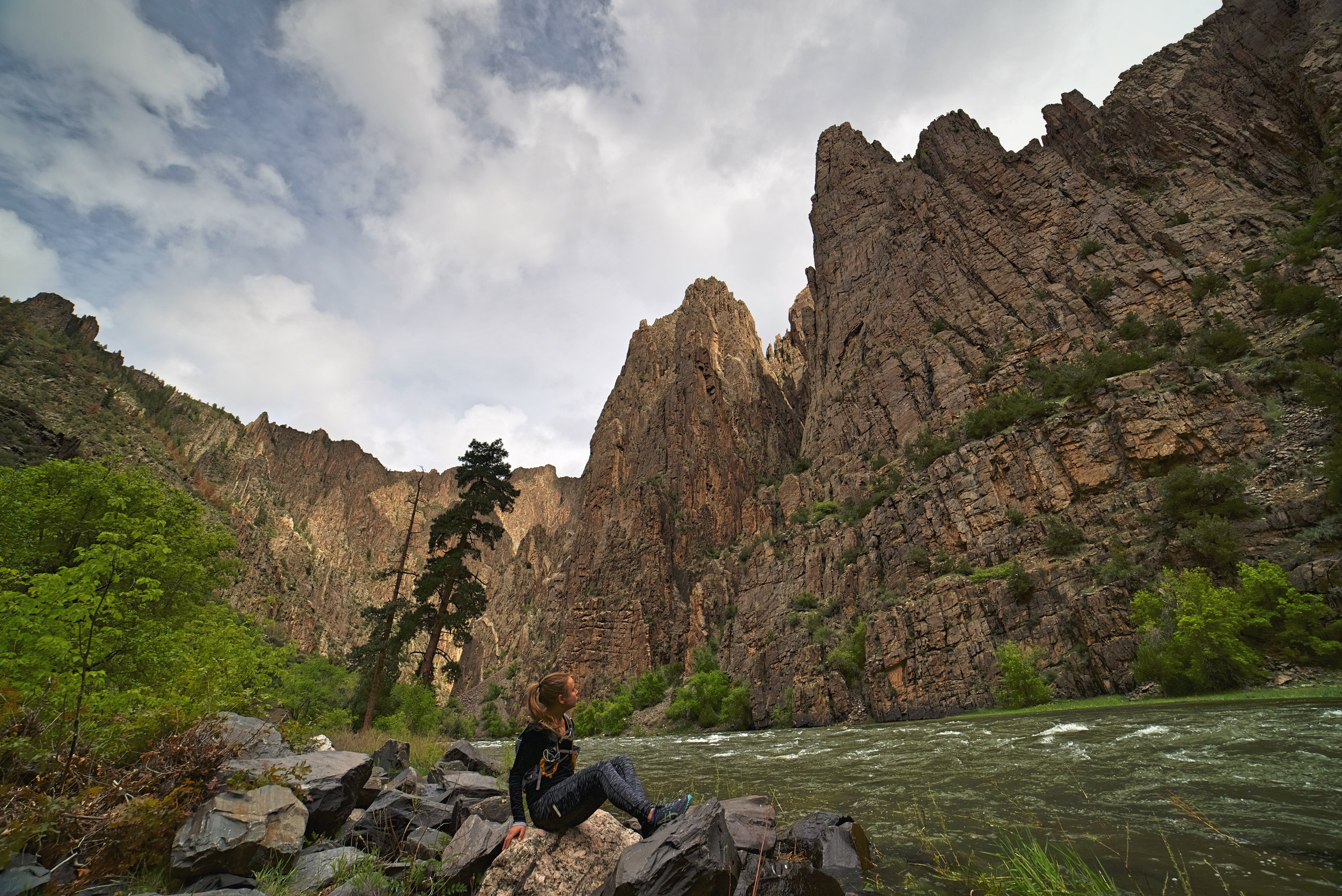 Hiking Down Canyon into the Black Canyon of the Gunnison