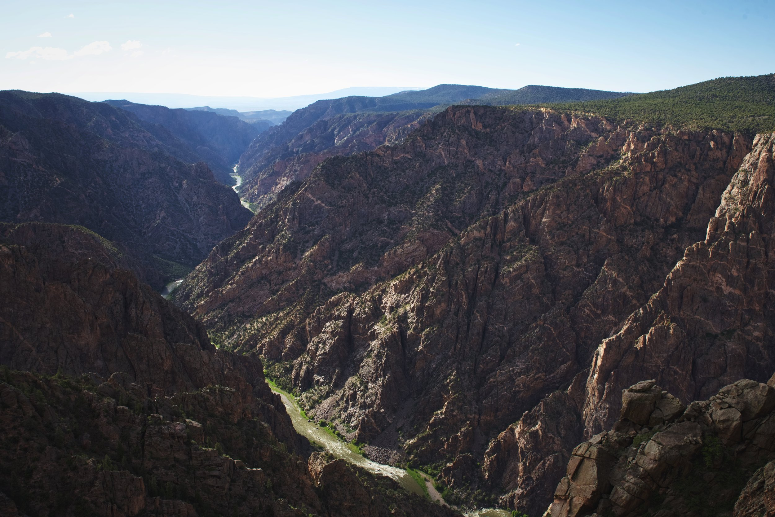The Black Canyon of the Gunnison earned it's name, because of the dark shadows on the canyon walls.