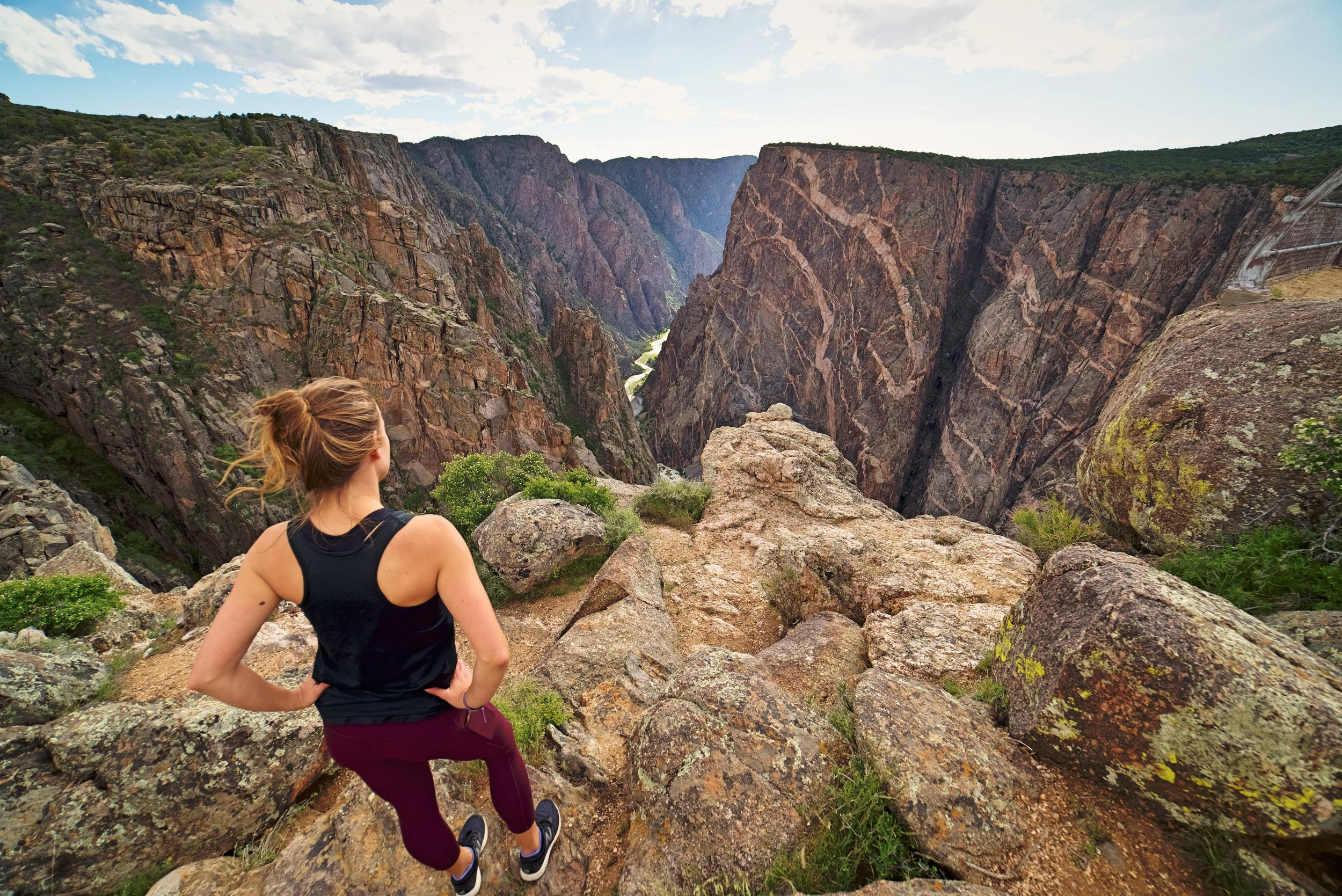 The Black Canyon of the Gunnison has some of the steepest cliffs in all of Colorado.