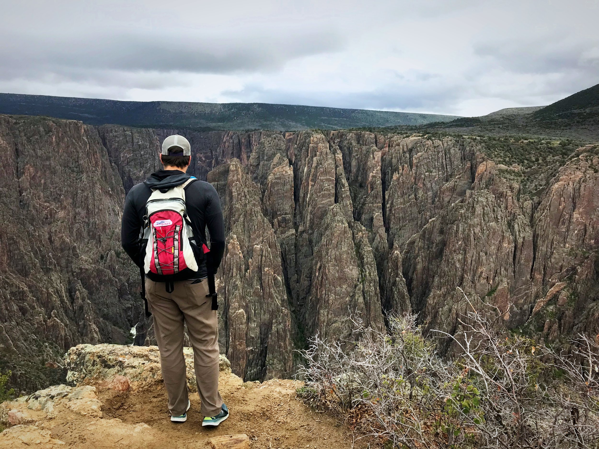 A small day pack is perfect for taking on the Gunnison Route. Anything bulkier could be a bit unwieldy while descending.