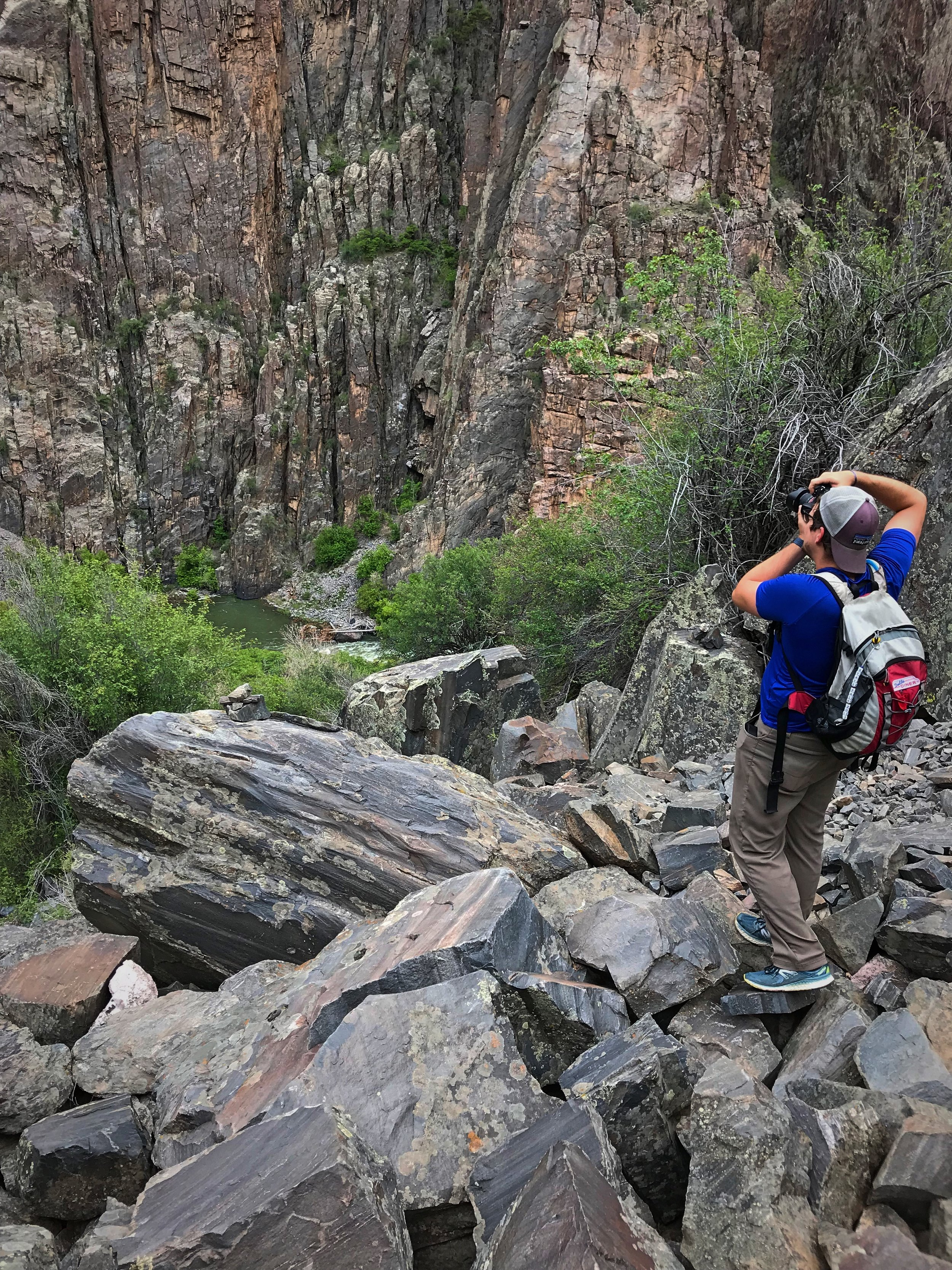 The size of the rocks varies significantly in the final portion of the Gunnison Route.