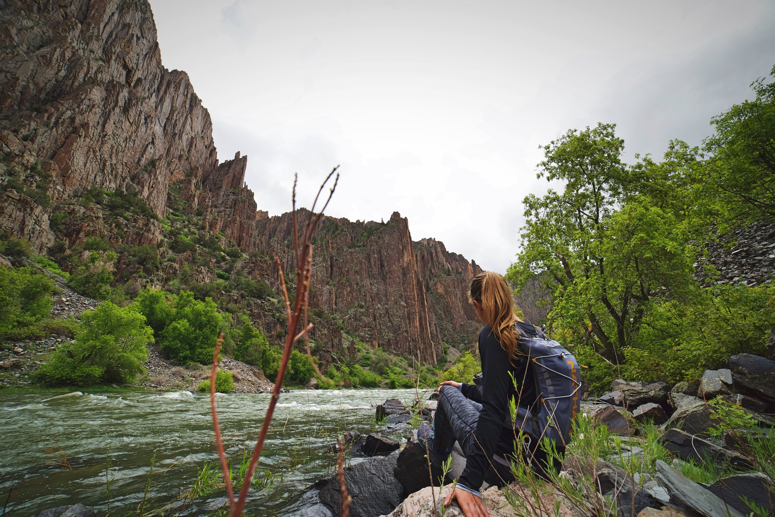 Because the Gunnison River was so high that we couldn't walk very far on the canyon floor.