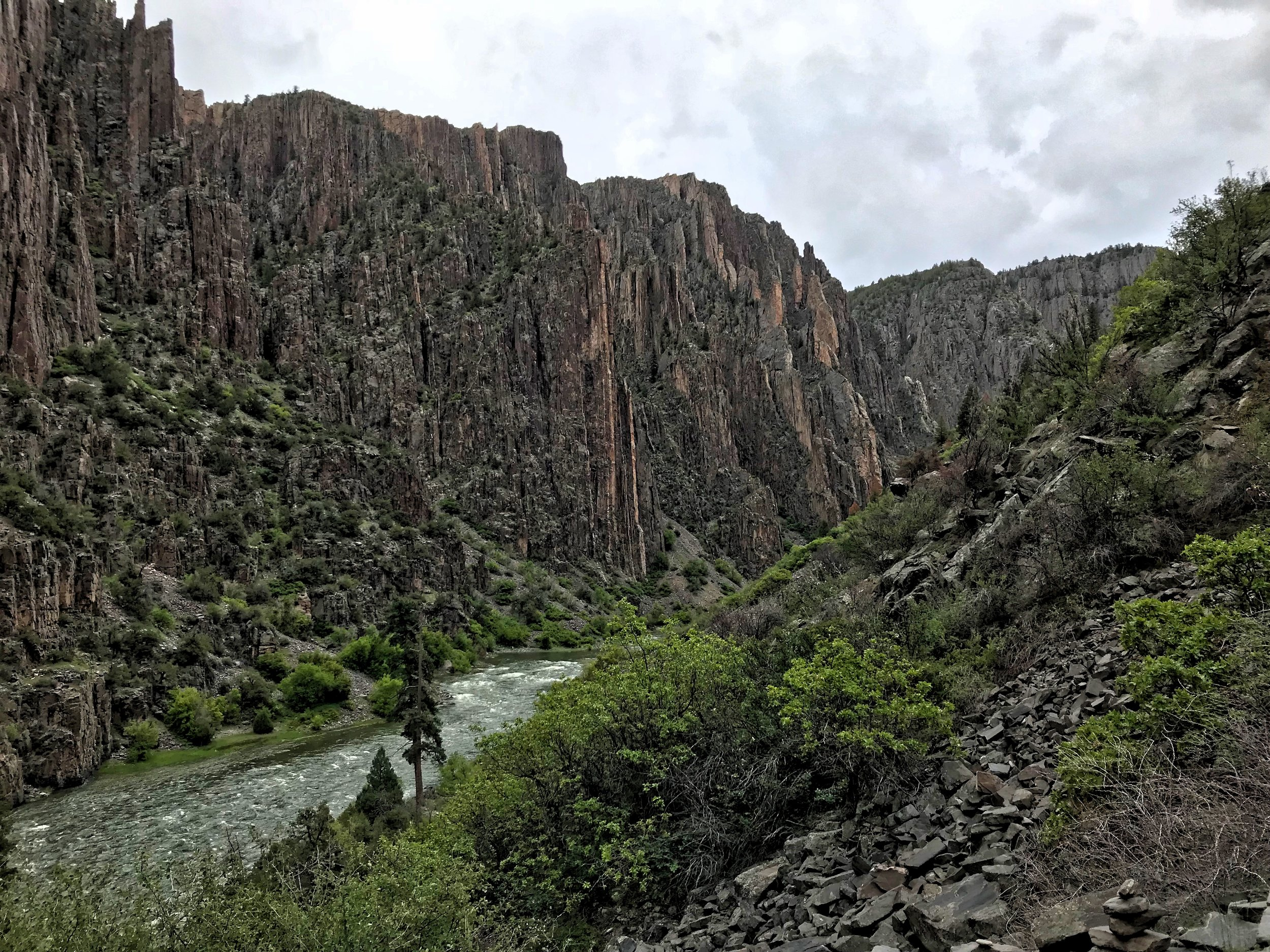This photo shows how steep the majority of the Gunnison Route is.
