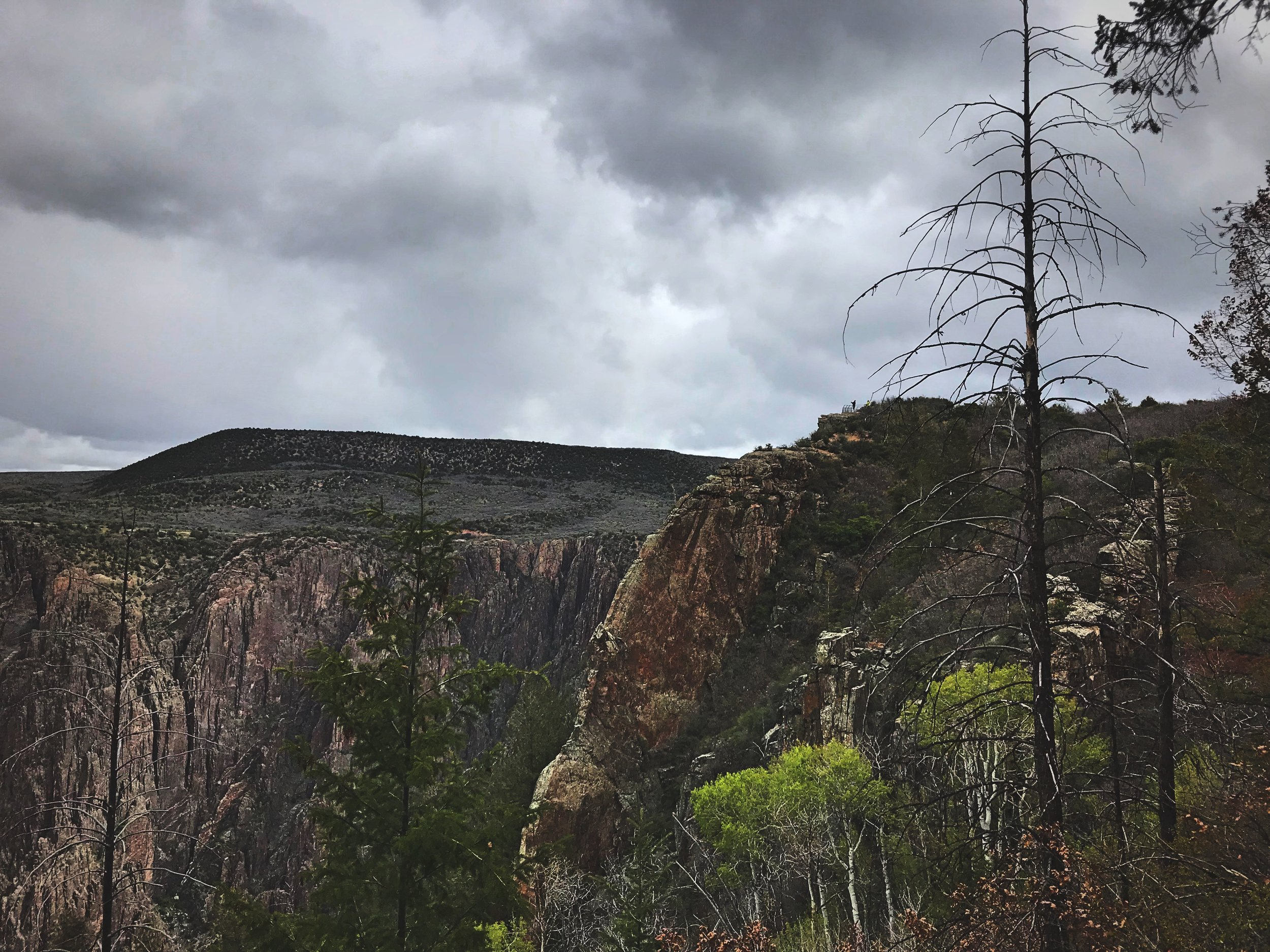 Even though it had rained the night before, we found that the Gunnison Route was not too slippery.