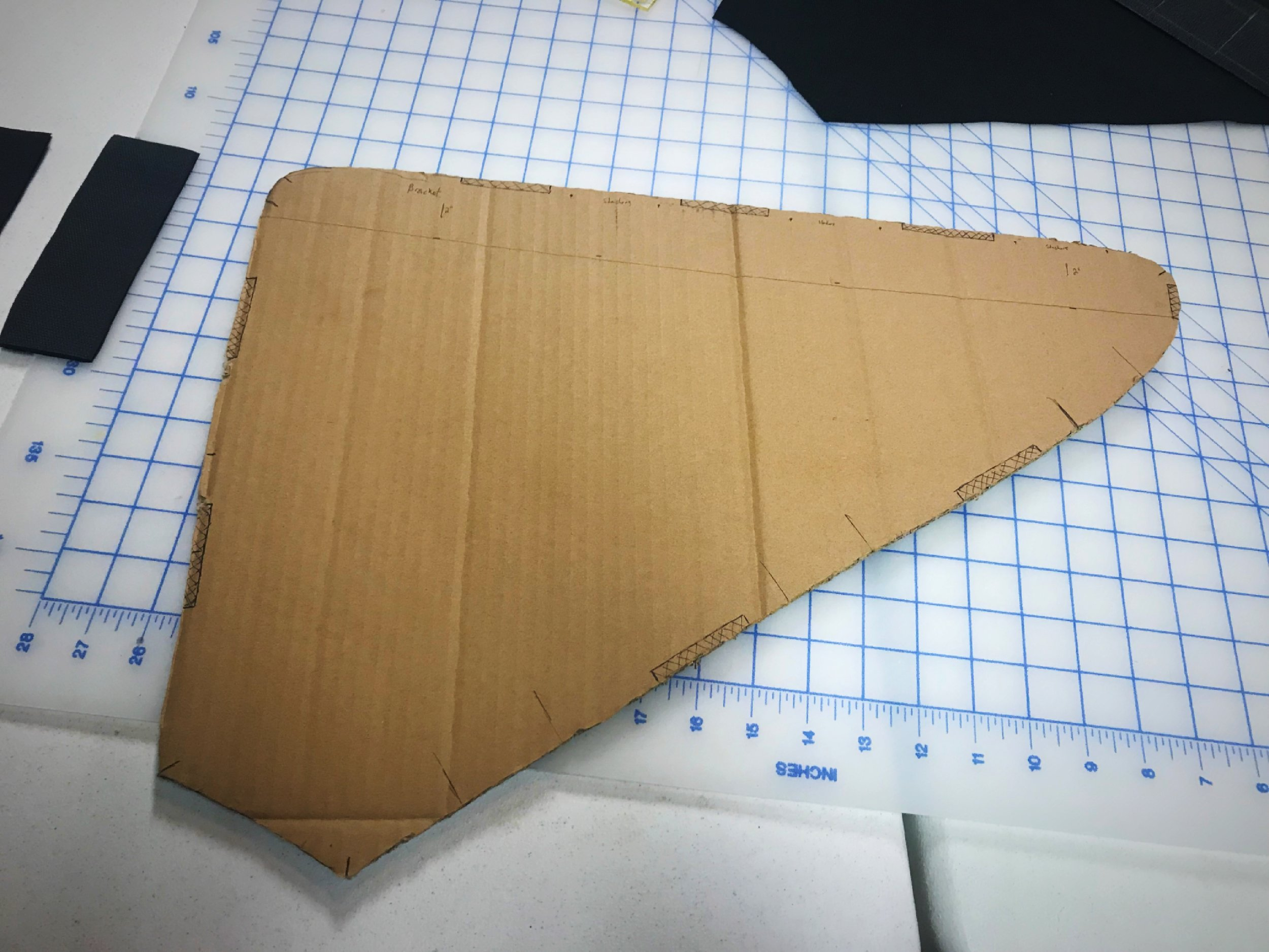 The first step to sewing your own custom frame pack is to create a stencil of the inside of your frame. The shape of the bag is actually a trapezoid, because you don't want it to go all the way down to the chain rings.