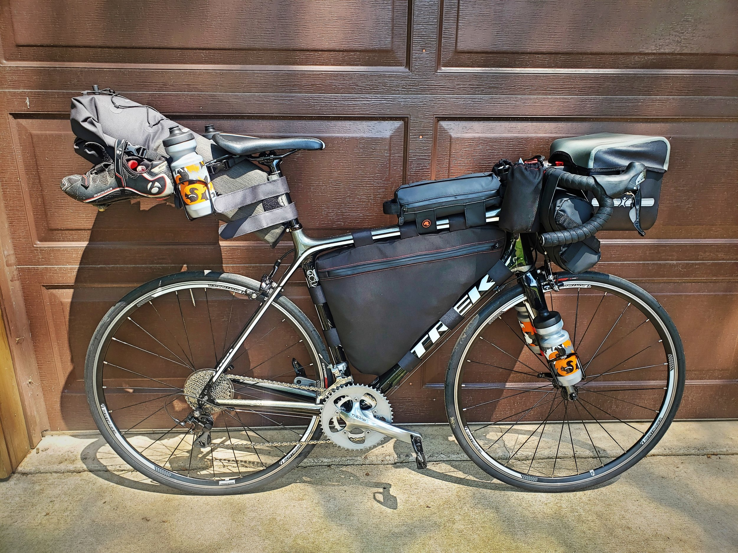 Making your own bags means you can design a bag that fits perfectly within the frame of your bike so that no frame is wasted.