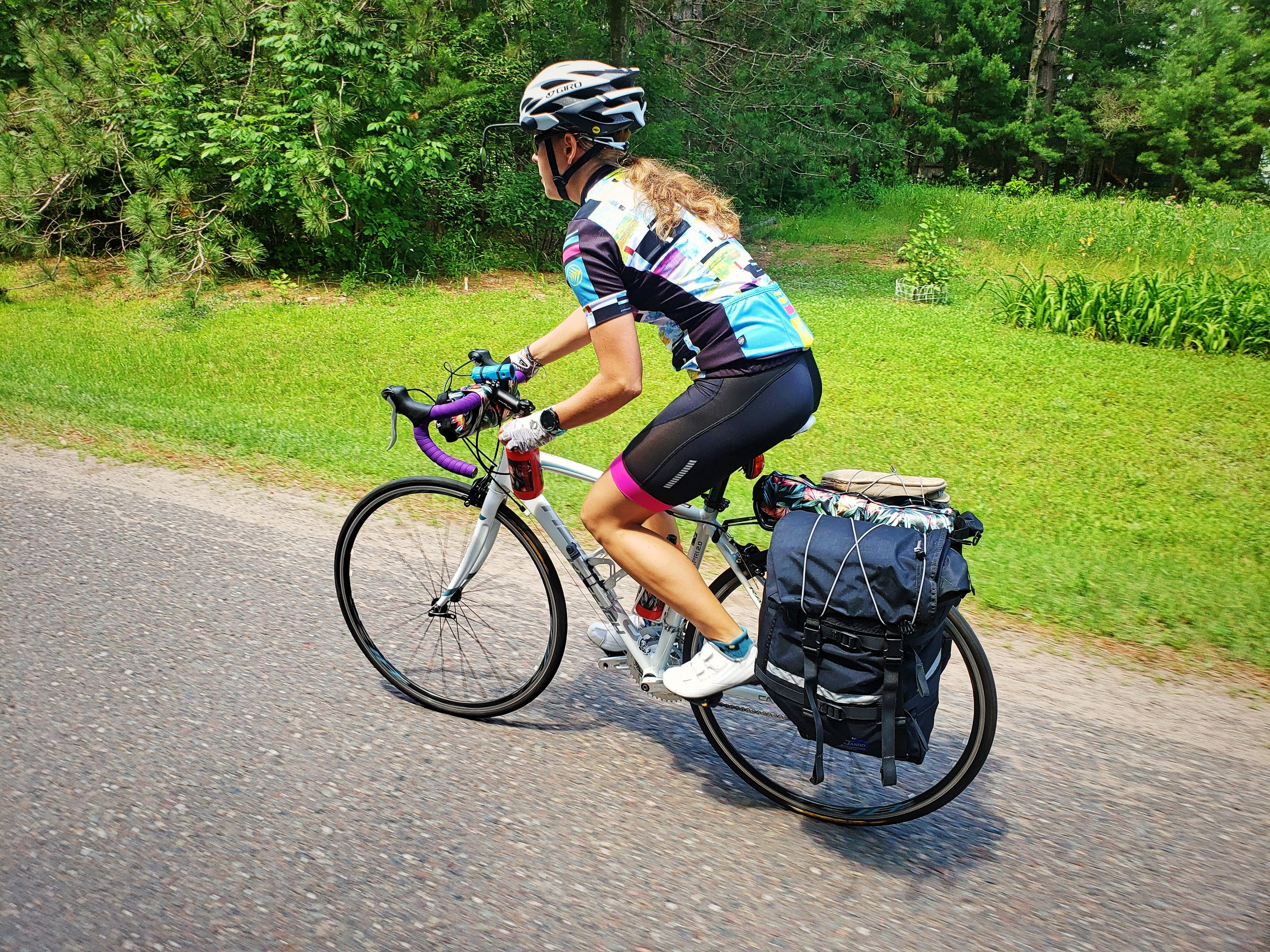 Panniers are still a good option if you are able to mount a rack to your bike. But if not, our homemade frame pack tutorial can help you design the perfect bag for your frame.