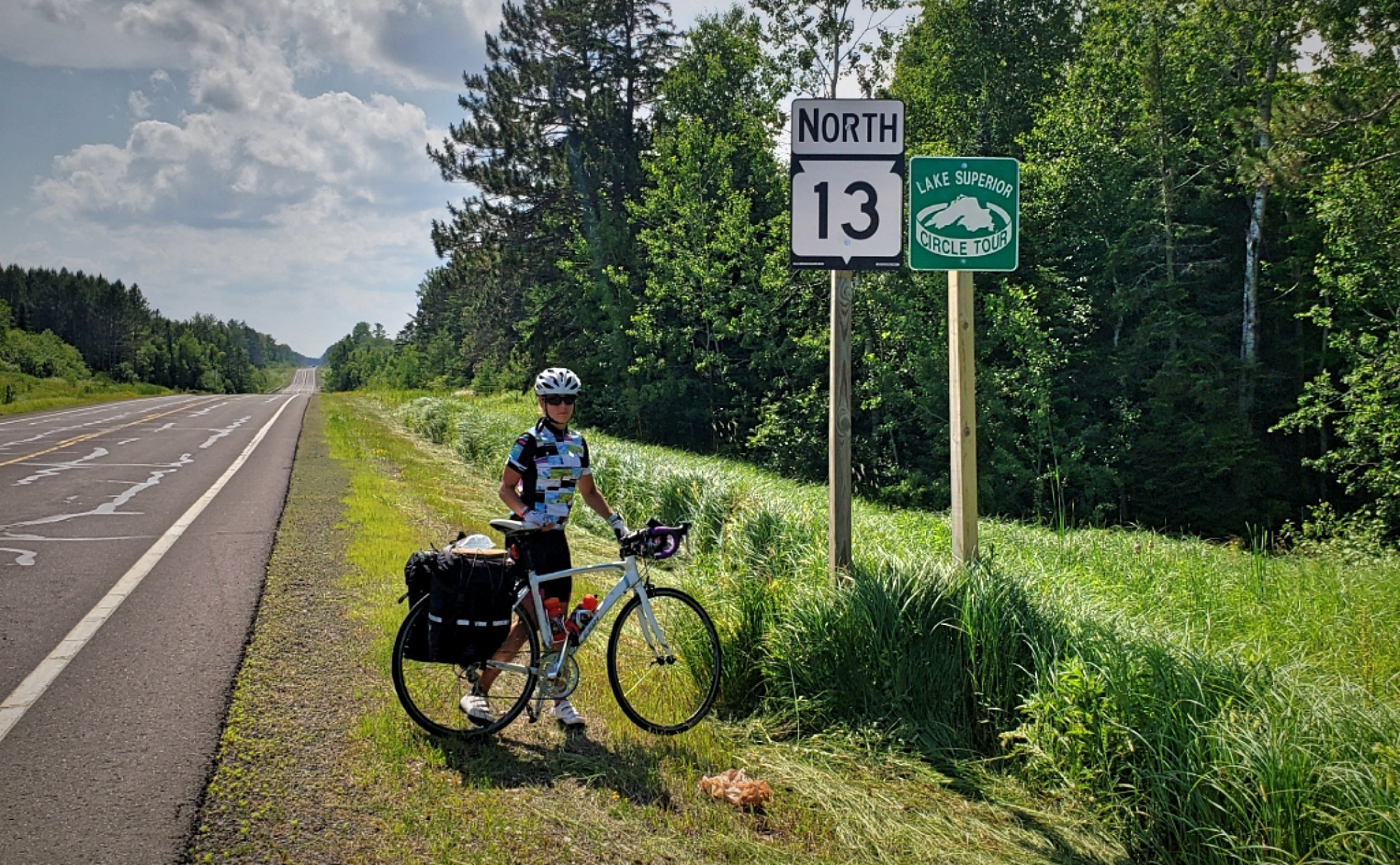 We followed these Lake Superior Circle Tour signs all the way around Lake Superior!