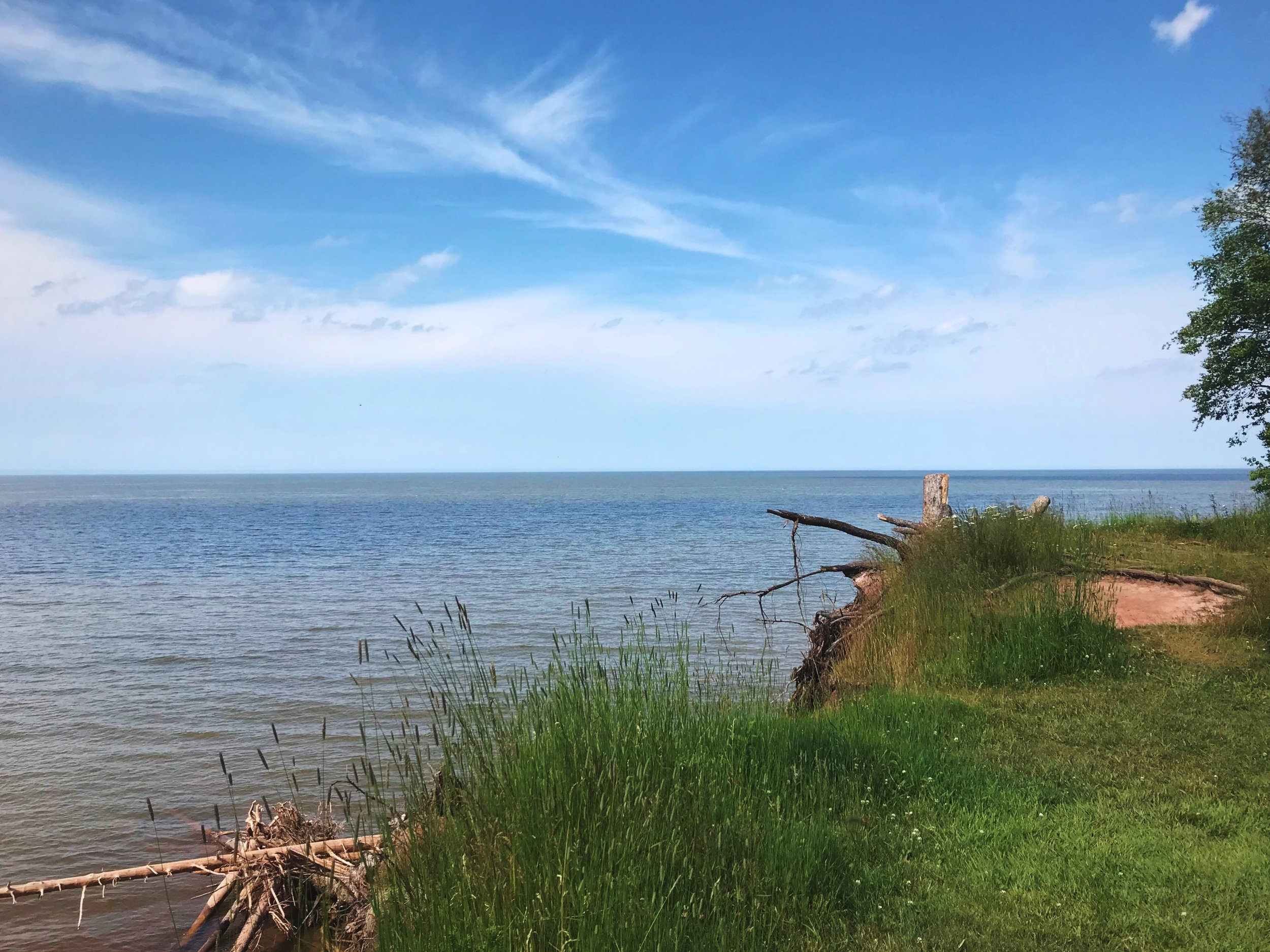 On the shore of Lake Superior, there is almost always a cool breeze. Unfortunately, a lot of our riding on this 90 degree day was inland.