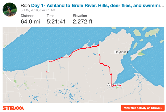 Biking from Ashland to Brule River Lake Superior Bike Route