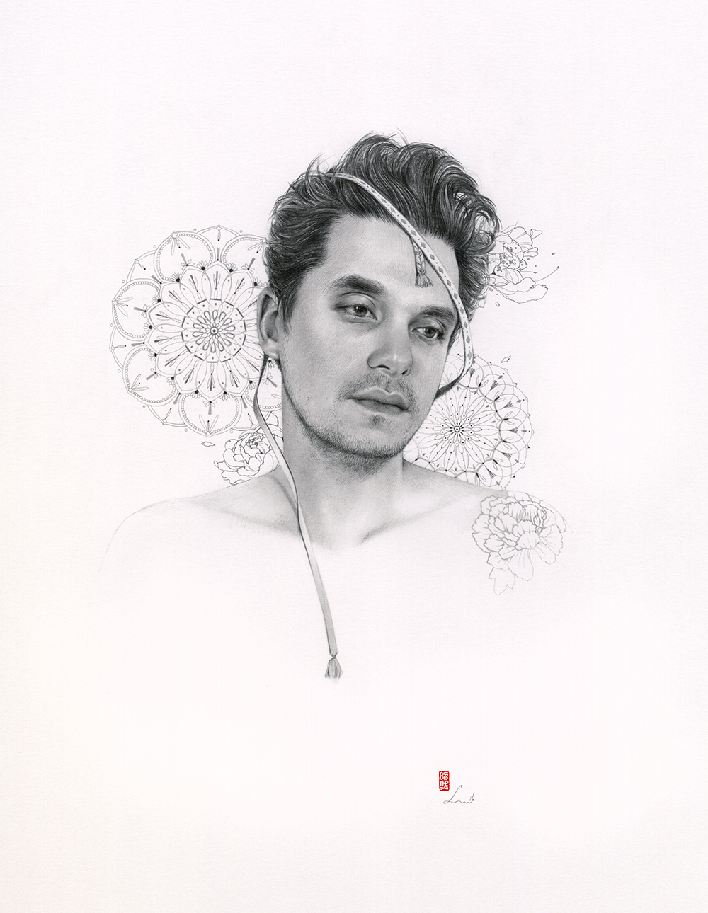 "'John Mayer The Search For Everything Cover No.1'   14""x16"" 