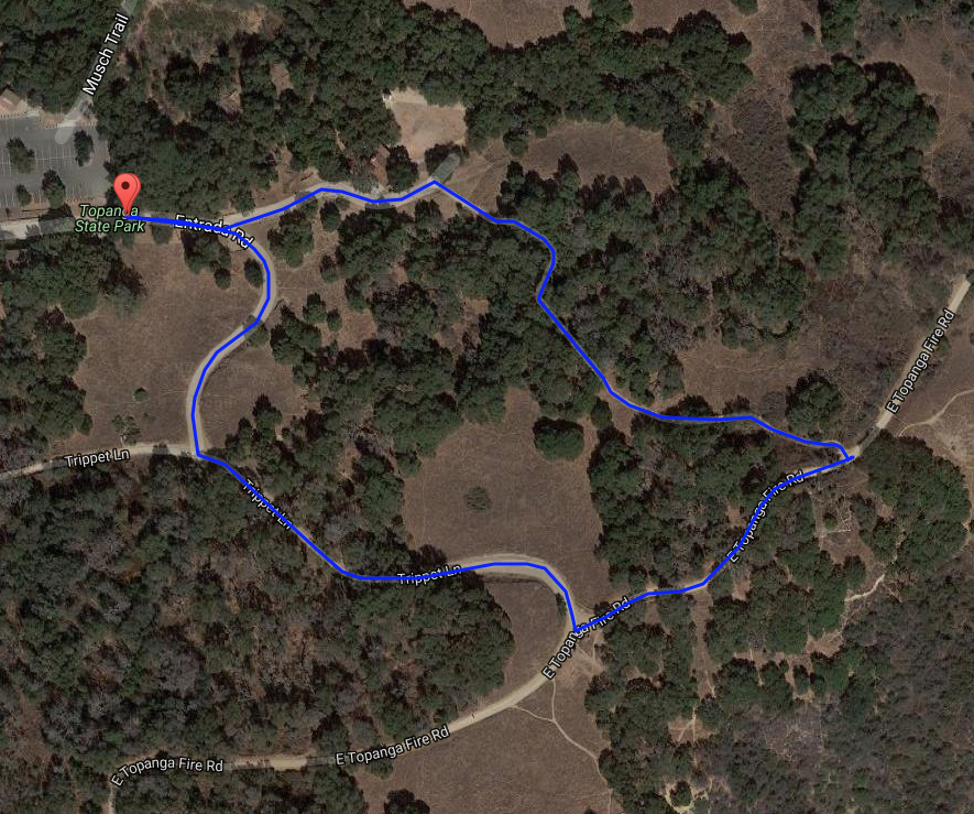 Junior Tough Topanga 1-kilometer Course Map