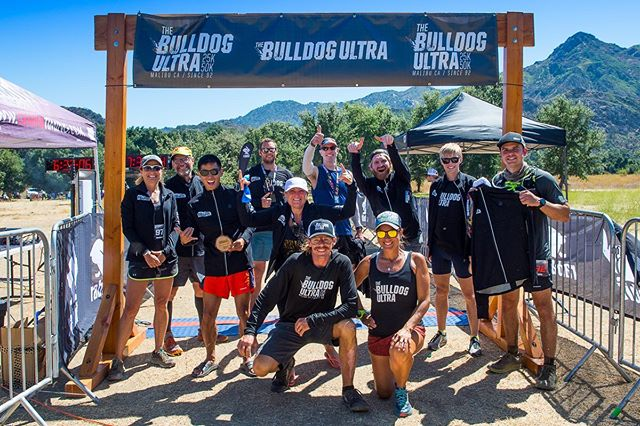 Congrats to the awesome runners that completed the Bulldog Trail Challenge.  It started with the Tough Topanga 10 and the Tough Mugu 25k.  Here they are at the finish line of the 2019 Bulldog Ultra 50k with their well deserved jackets from rabbit!! . . .  #borntorunfree #doinla  #run #ultrarunner #socal  #mydayinla  #trailrun  #optoutside  #trailrunning  #welcometothegrind #radparks #santamonicamountains #trailrunning #malibu #topanga #endurancerunning #santamonica #10k #hiking #hikeLA #prizepurse #trailrun  #runningcommunity #community #losangeles #sanfernandovalley #trailrace #latrails #jacket #challenge #trail #finisher