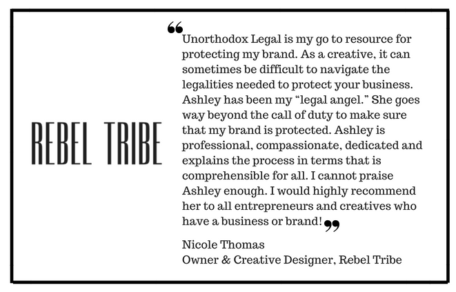 Ashley is the type of attorney that you'd keep on speed dial because of how reliable and relatable she is. During our time together, she has helped me to get the legal matters of my brand in order, was super efficien-5.png
